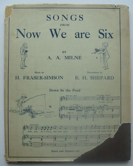 Photo of SONGS FROM NOW WE ARE SIX written by Milne, A.A. Fraser-Simson, H. illustrated by Shepard, E.H. published by Methuen & Co. Ltd., Ascherberg, Hopwood & Crew Ltd. (STOCK CODE: 1702224)  for sale by Stella & Rose's Books