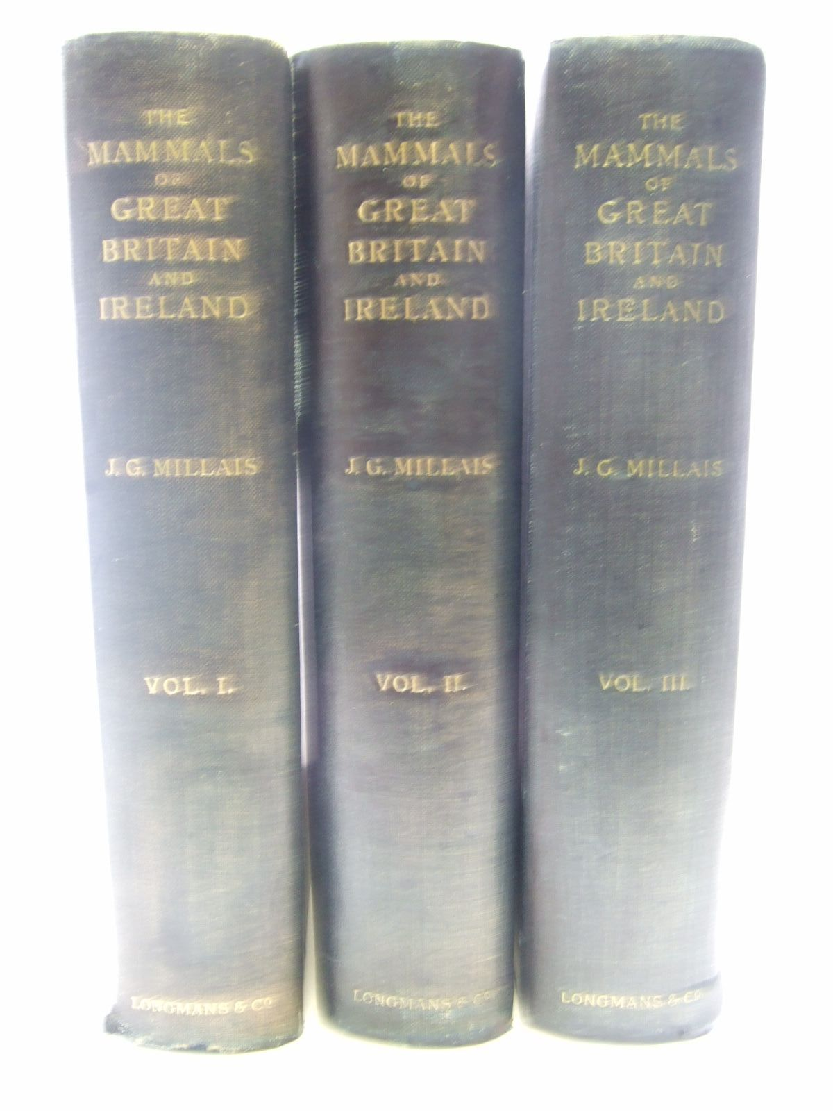 Photo of THE MAMMALS OF GREAT BRITAIN AND IRELAND written by Millais, J.G. illustrated by Millais, J.G.<br />Thorburn, Archibald<br />Lodge, G.E.<br />Gronvold, Henrik published by Longmans, Green &amp; Co. (STOCK CODE: 1706435)  for sale by Stella & Rose's Books