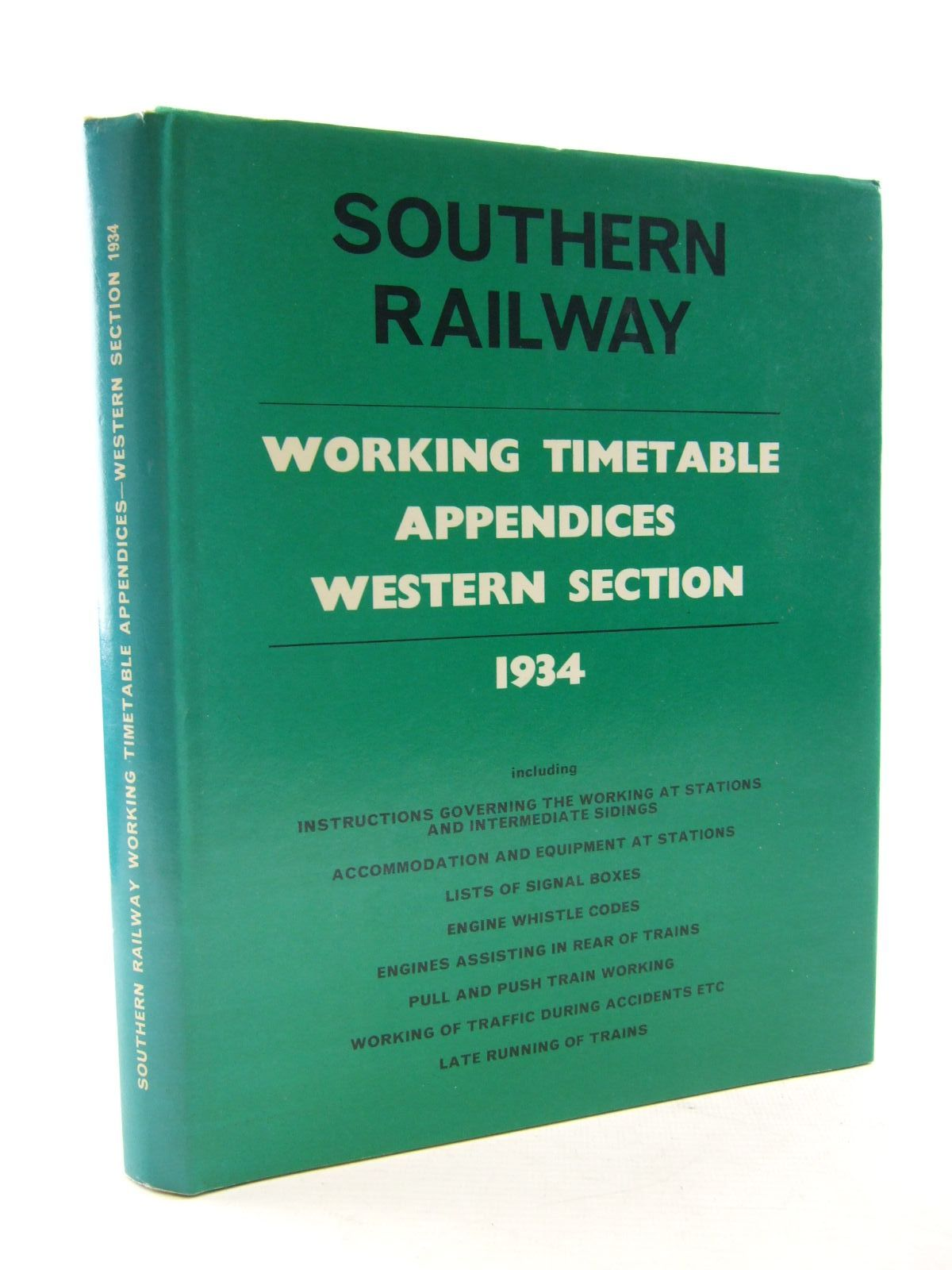 Photo of SOUTHERN RAILWAY WORKING TIMETABLE APPENDICES WESTERN SECTION 1934 published by Bradford Barton (STOCK CODE: 1706744)  for sale by Stella & Rose's Books