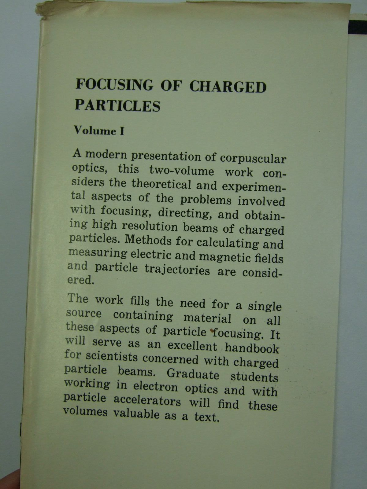 Photo of FOCUSING OF CHARGED PARTICLES (2 VOLUMES) written by Septier, Albert published by Academic Press (STOCK CODE: 1707710)  for sale by Stella & Rose's Books