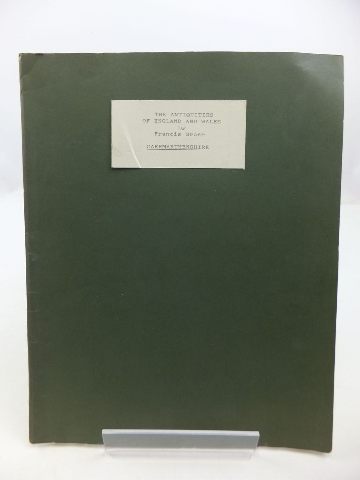 Photo of THE ANTIQUITIES OF ENGLAND AND WALES VOL. VII CAERMARTHENSHIRE- Stock Number: 1708345
