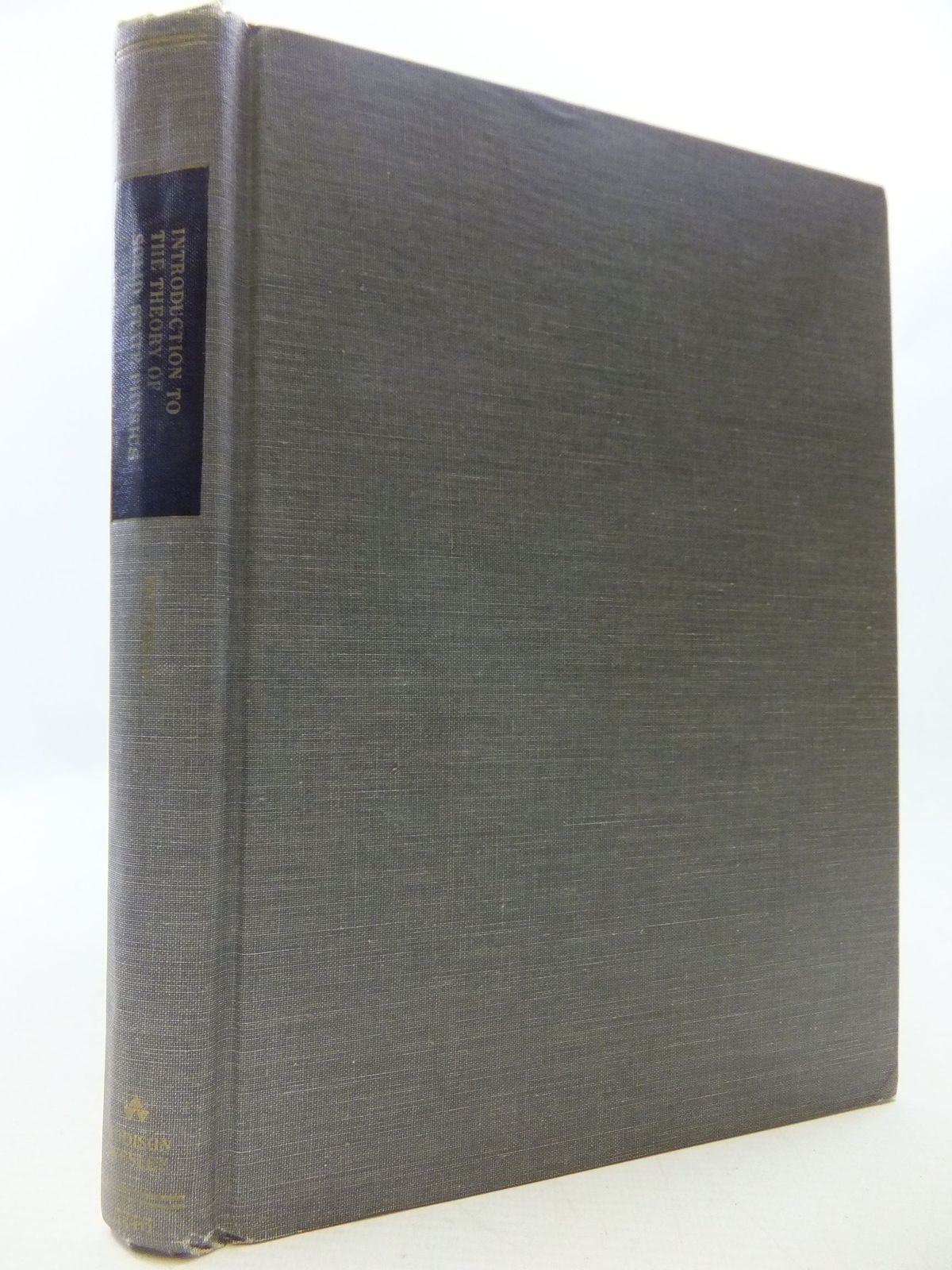 Photo of INTRODUCTION TO THE THEORY OF SOLID STATE PHYSICS- Stock Number: 1709328