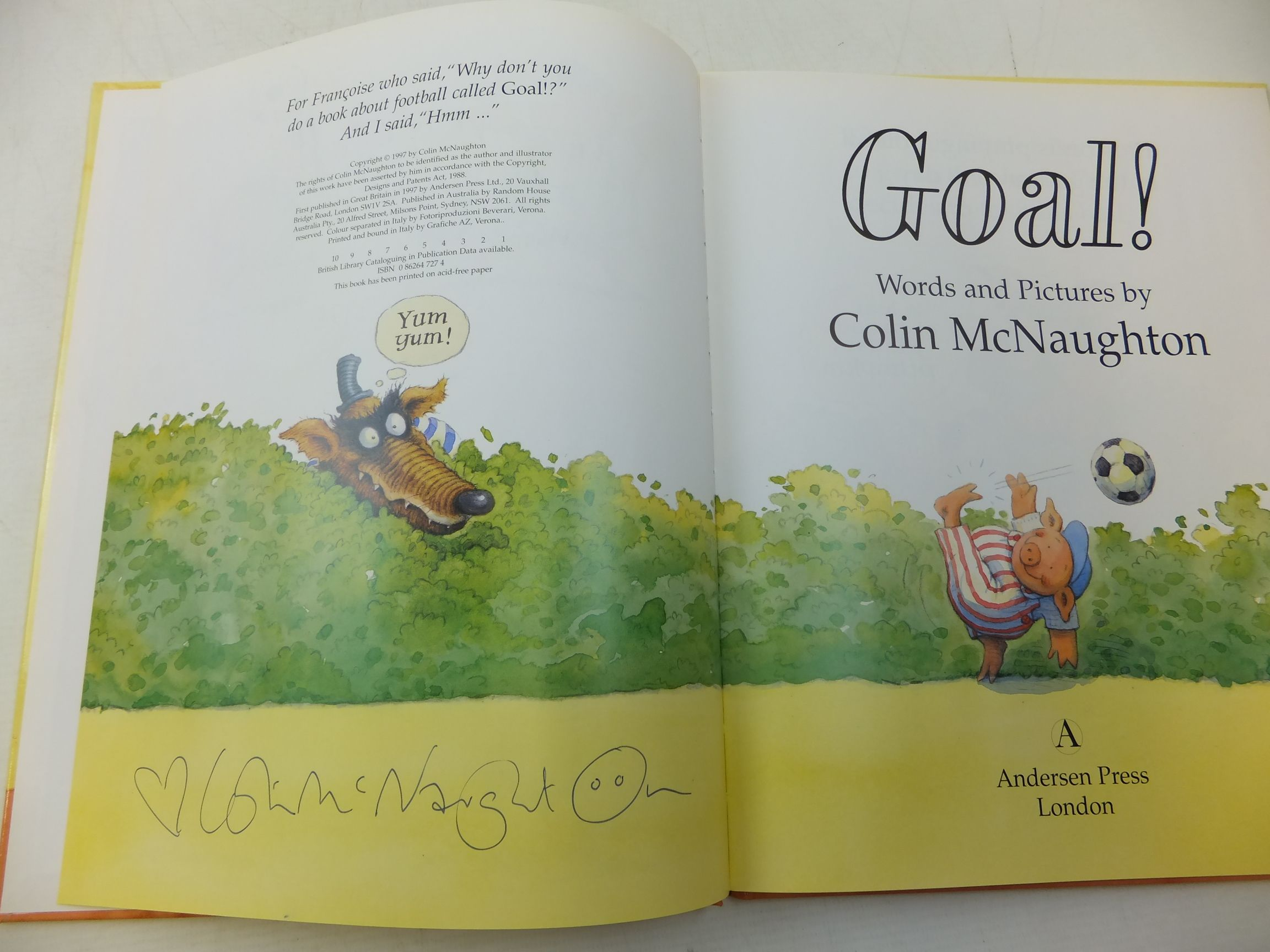 Photo of GOAL! written by McNaughton, Colin illustrated by McNaughton, Colin published by Andersen Press (STOCK CODE: 1710206)  for sale by Stella & Rose's Books