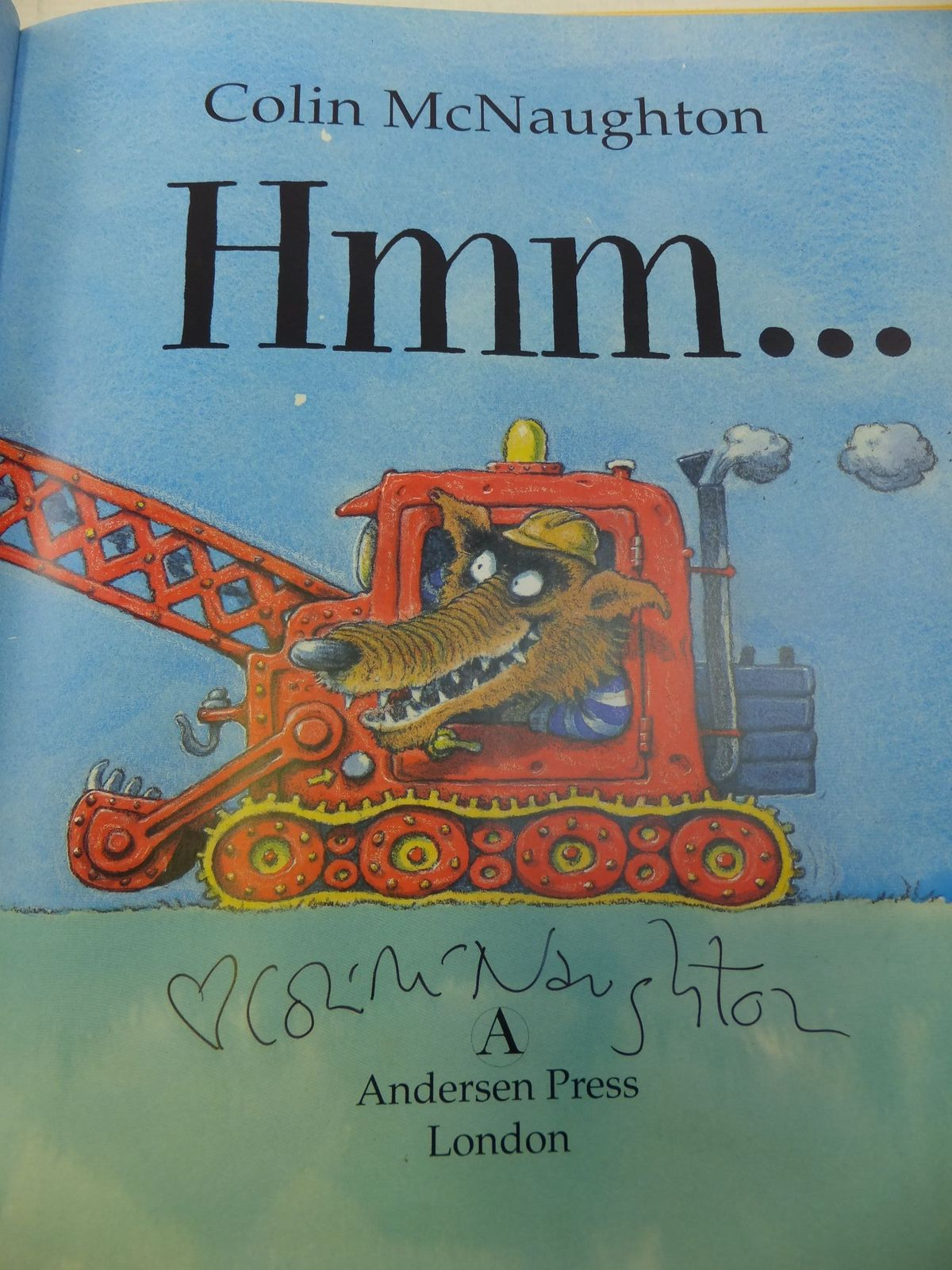 Photo of HMM written by McNaughton, Colin illustrated by McNaughton, Colin published by Andersen Press (STOCK CODE: 1710230)  for sale by Stella & Rose's Books
