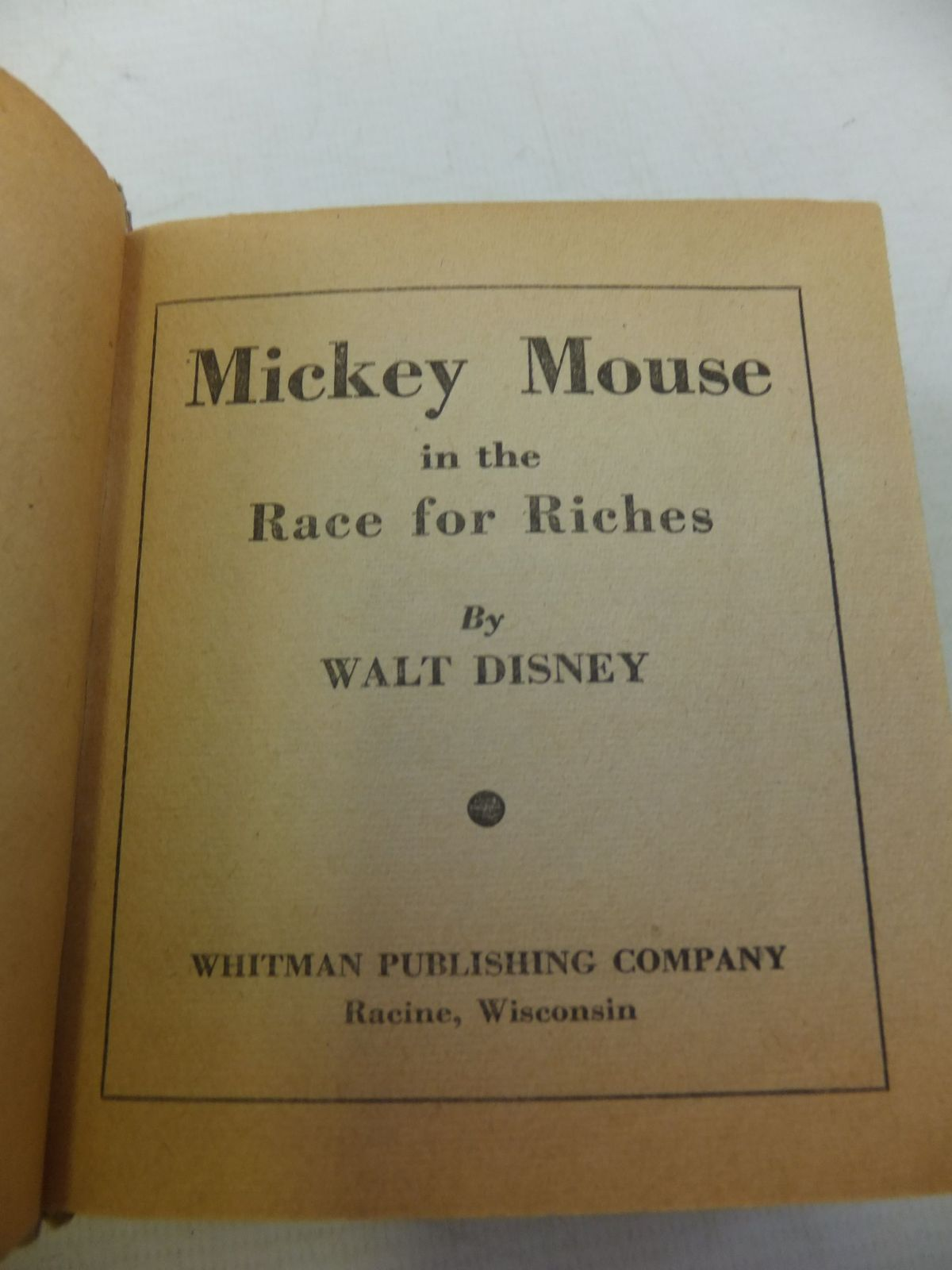 Photo of MICKEY MOUSE IN THE RACE FOR RICHES written by Disney, Walt illustrated by Disney, Walt published by Whitman Publishing Company (STOCK CODE: 1710338)  for sale by Stella & Rose's Books