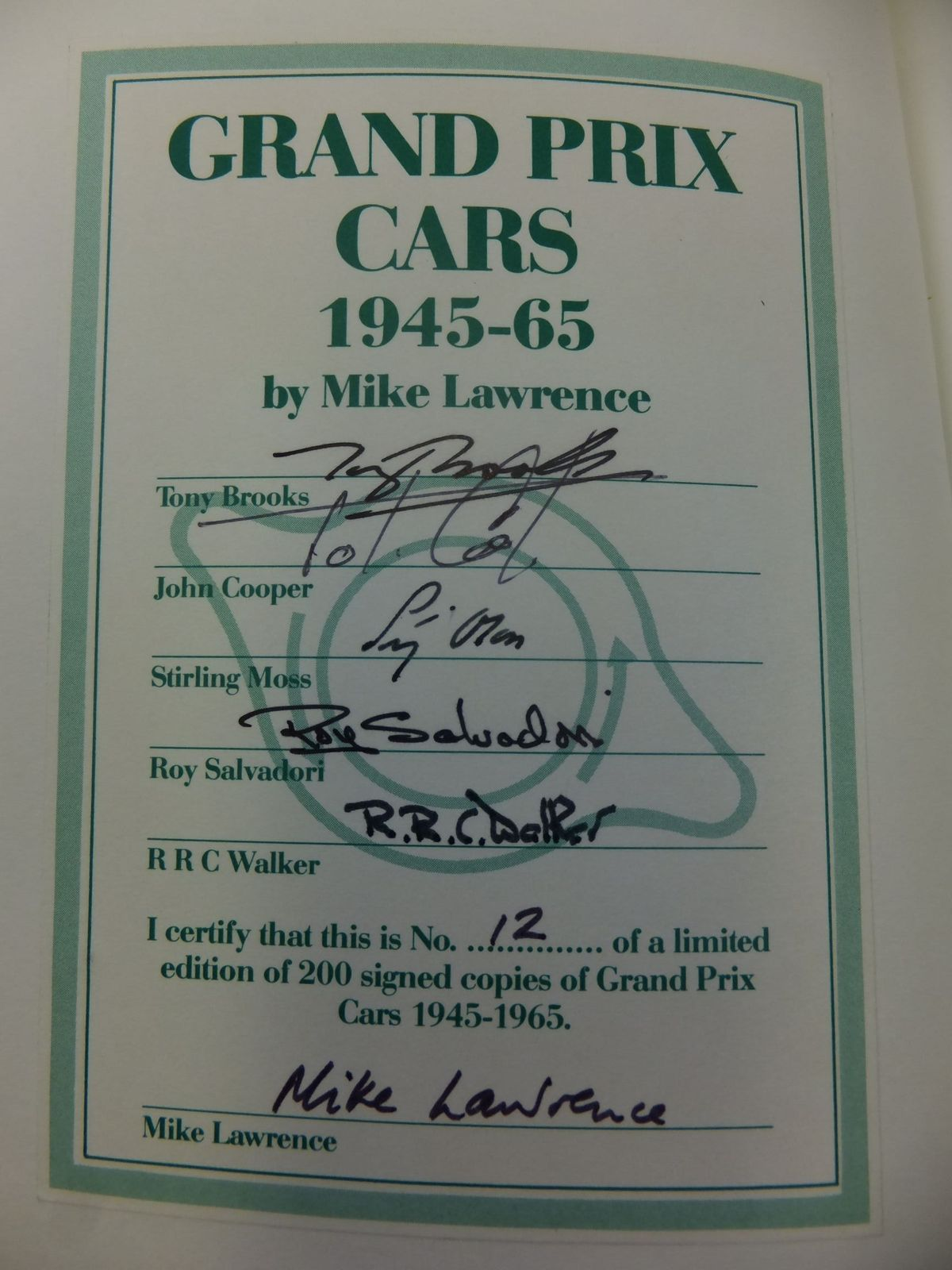 Photo of DIRECTORY OF GRAND PRIX CARS 1945-65 written by Lawrence, Mike published by Aston Publications (STOCK CODE: 1711238)  for sale by Stella & Rose's Books