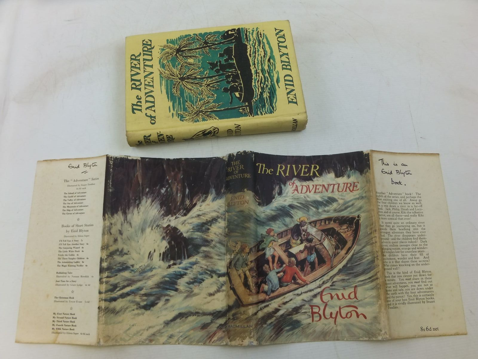 Photo of THE RIVER OF ADVENTURE written by Blyton, Enid illustrated by Tresilian, Stuart published by Macmillan & Co. Ltd. (STOCK CODE: 1712557)  for sale by Stella & Rose's Books