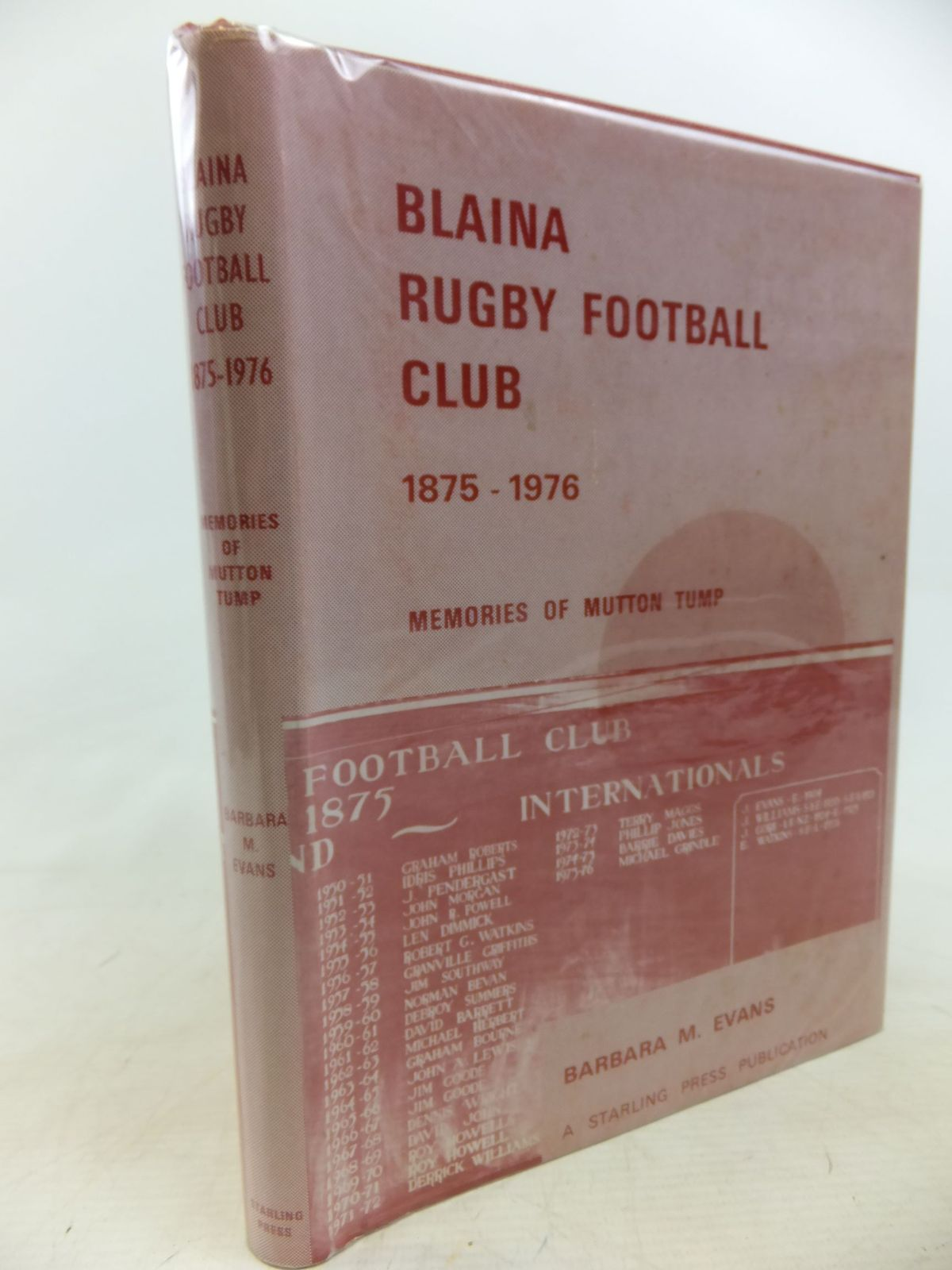 Photo of BLAINA RUGBY FOOTBALL CLUB 1875-1976 written by Evans, Barbara M. published by The Starling Press (STOCK CODE: 1712832)  for sale by Stella & Rose's Books