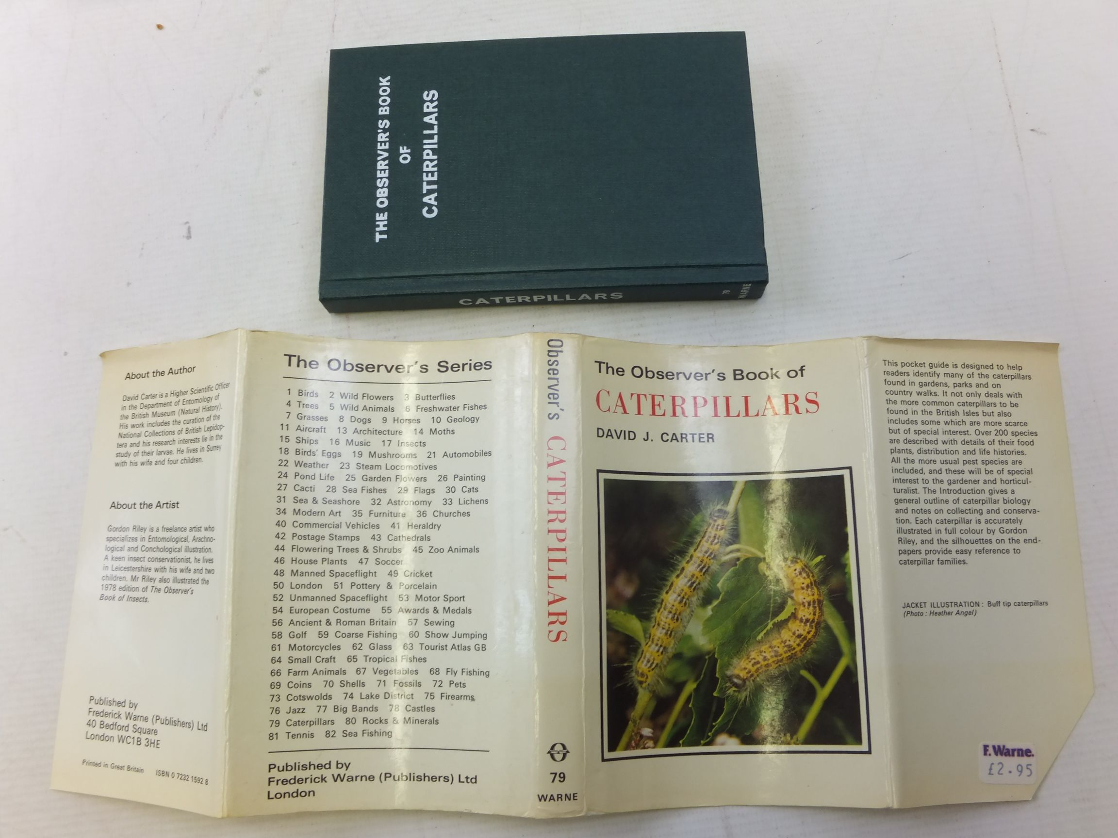 Photo of THE OBSERVER'S BOOK OF CATERPILLARS written by Carter, D.J. illustrated by Riley, Gordon published by Frederick Warne (STOCK CODE: 1712866)  for sale by Stella & Rose's Books