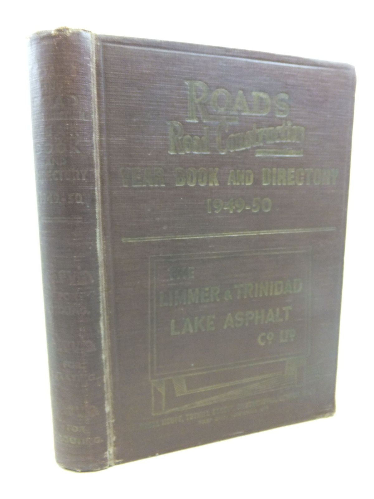 Photo of ROADS AND ROAD CONSTRUCTION YEAR BOOK & DIRECTORY 1949-50- Stock Number: 1713056