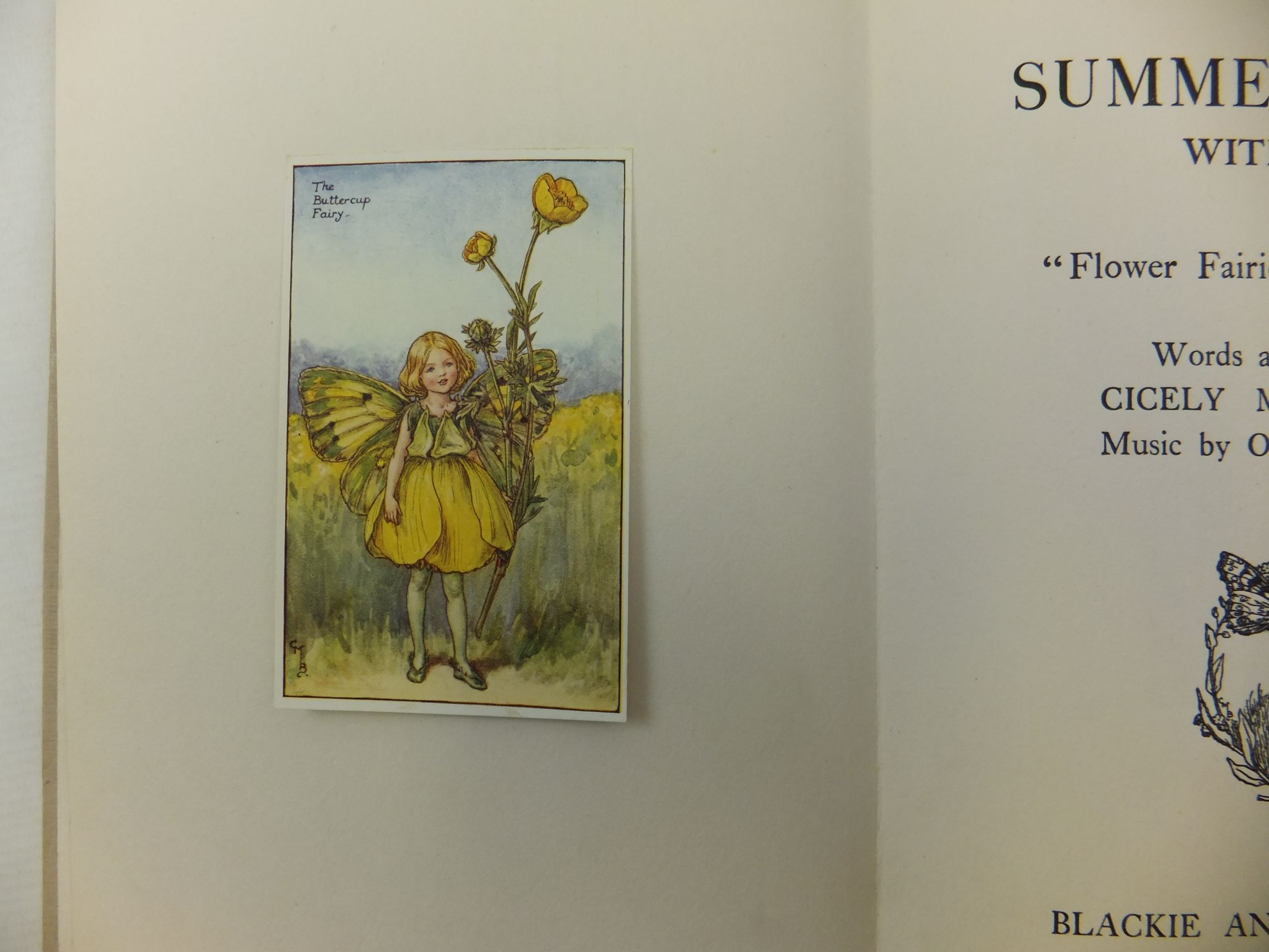 Photo of SUMMER SONGS WITH MUSIC written by Barker, Cicely Mary Linnell, Olive illustrated by Barker, Cicely Mary published by Blackie & Son Ltd. (STOCK CODE: 1713072)  for sale by Stella & Rose's Books