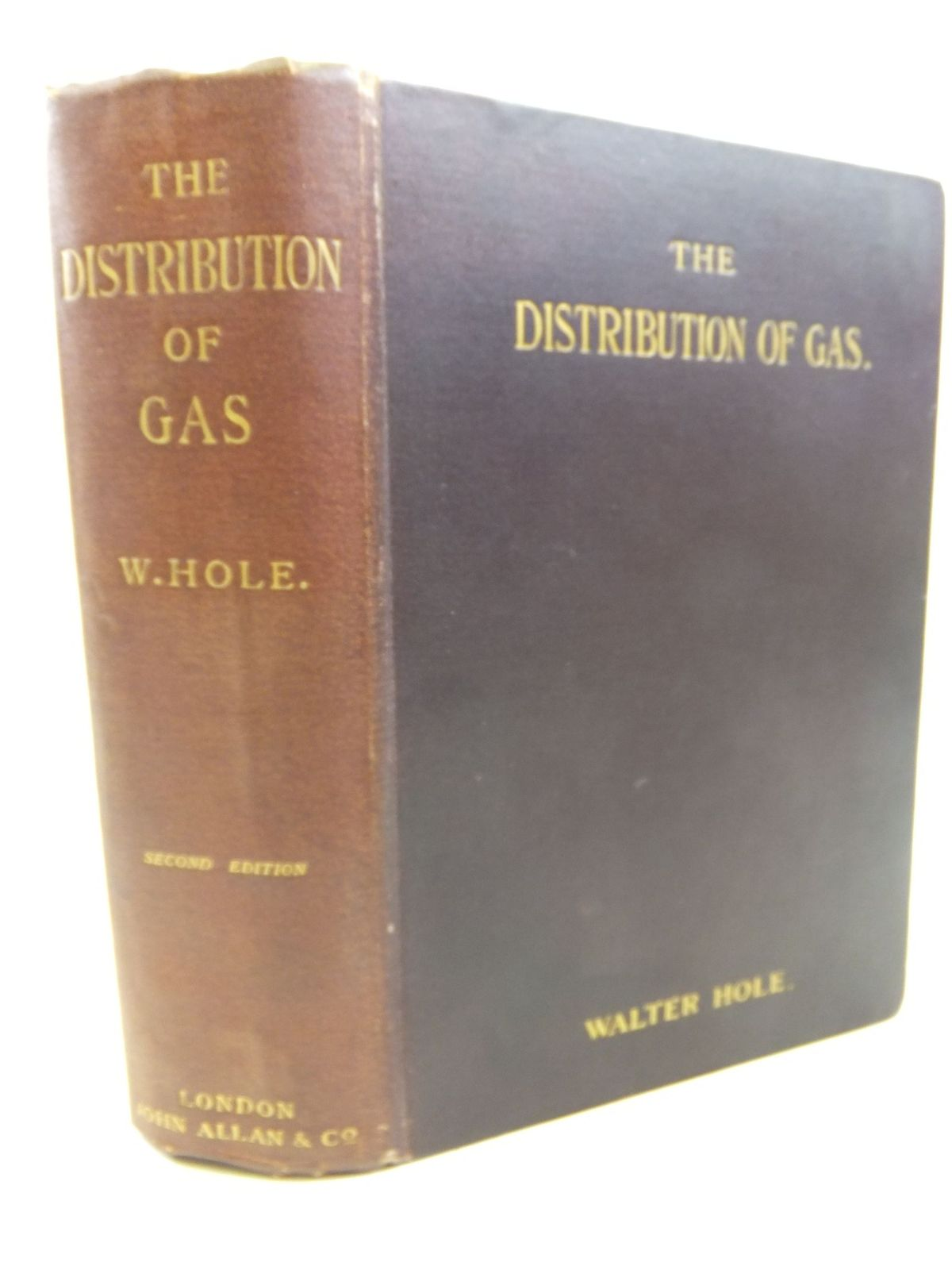 Photo of THE DISTRIBUTION OF GAS written by Hole, Walter published by John Allan & Co. (STOCK CODE: 1713080)  for sale by Stella & Rose's Books