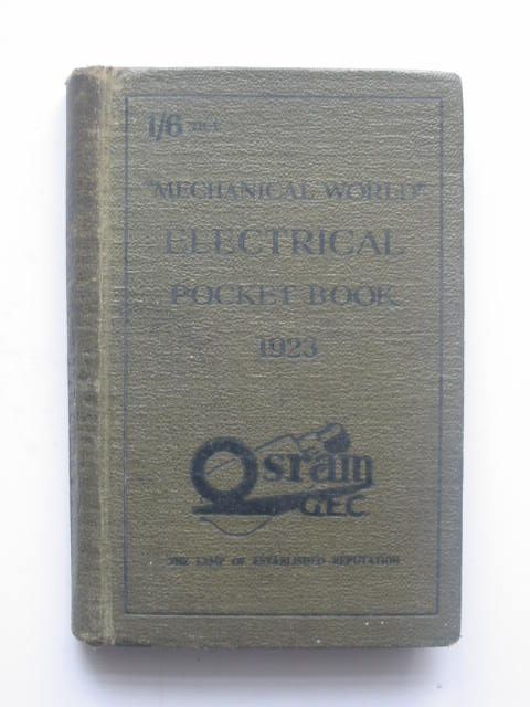 Photo of THE MECHANICAL WORLD ELECTRICAL POCKET BOOK 1923 published by Emmott & Company Limited (STOCK CODE: 1802005)  for sale by Stella & Rose's Books