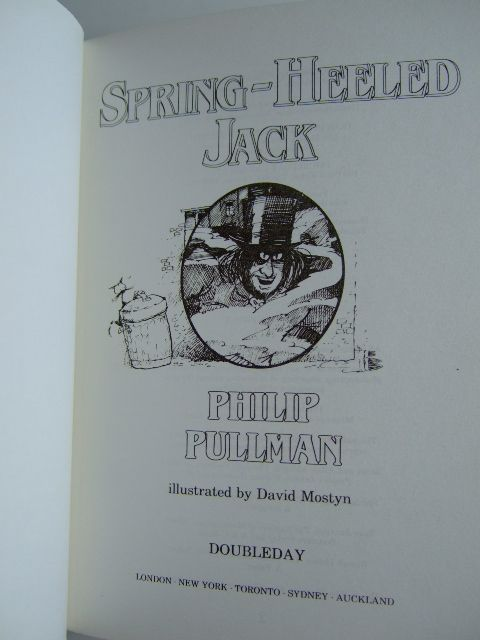 Photo of SPRING-HEELED JACK written by Pullman, Philip illustrated by Mostyn, David published by Doubleday (STOCK CODE: 1804085)  for sale by Stella & Rose's Books
