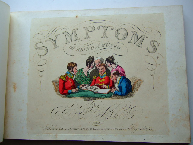 Photo of SYMPTOMS OF BEING AMUSED VOLUME 1 written by Alken, Henry illustrated by Alken, Henry published by Thos. McLean (STOCK CODE: 1804390)  for sale by Stella & Rose's Books