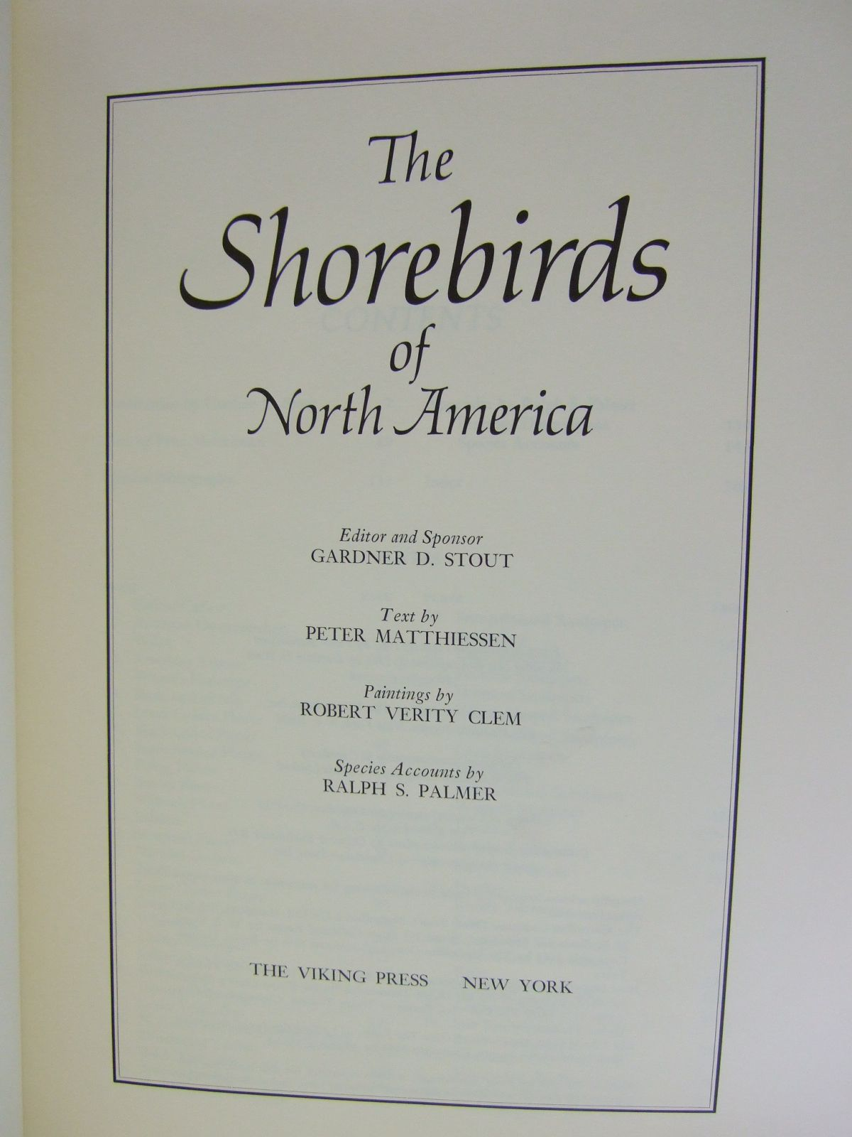 Photo of THE SHOREBIRDS OF NORTH AMERICA written by Matthiessen, Peter illustrated by Clem, Robert Verity published by The Viking Press (STOCK CODE: 1805564)  for sale by Stella & Rose's Books
