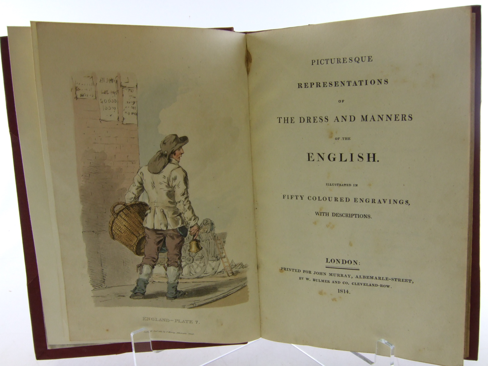 Photo of PICTURESQUE REPRESENTATIONS OF THE DRESS AND MANNERS OF THE ENGLISH illustrated by William, Alexander published by John Murray (STOCK CODE: 1805998)  for sale by Stella & Rose's Books