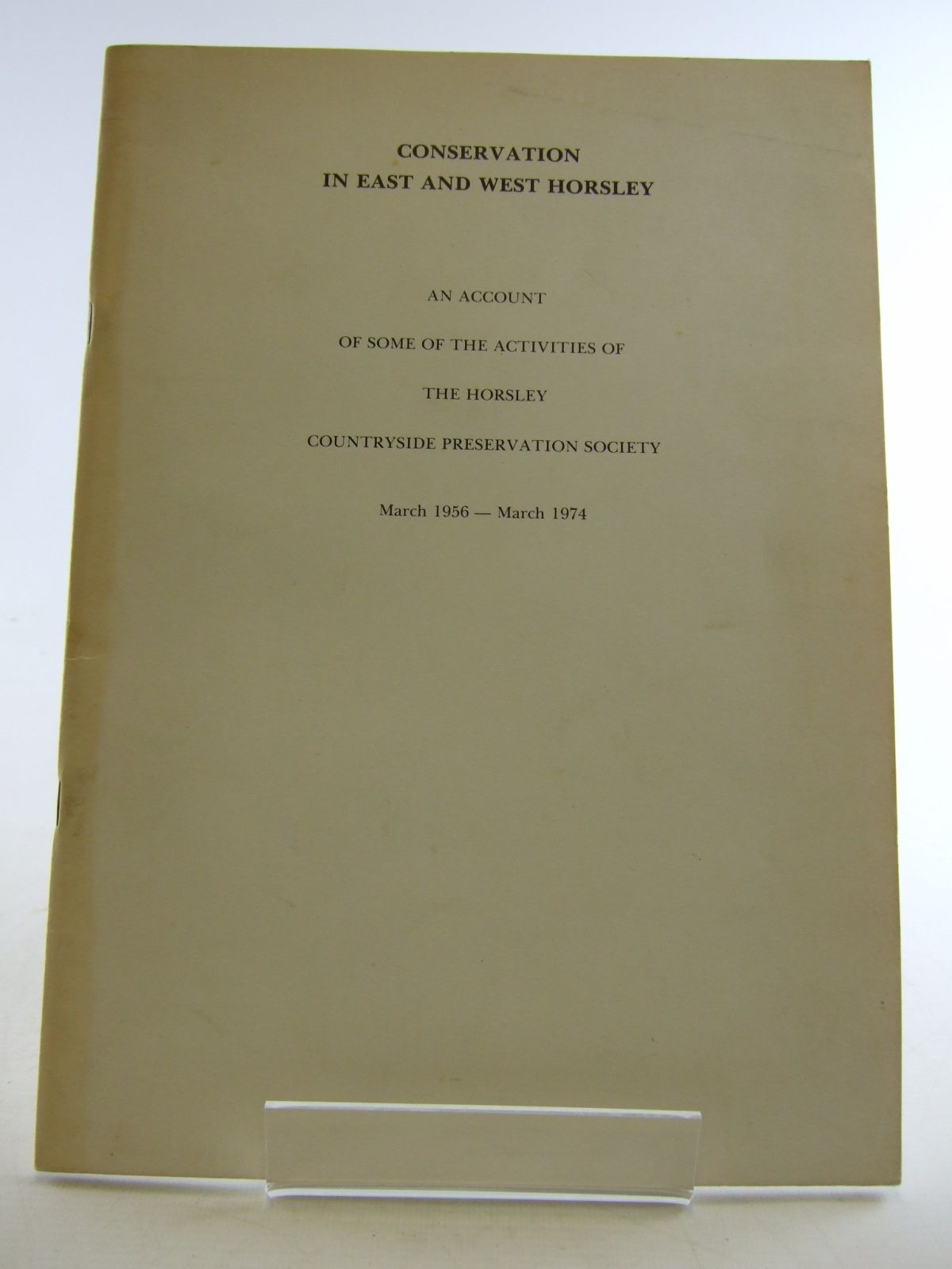 Photo of CONSERVATION IN EAST AND WEST HORSLEY (STOCK CODE: 1806034)  for sale by Stella & Rose's Books