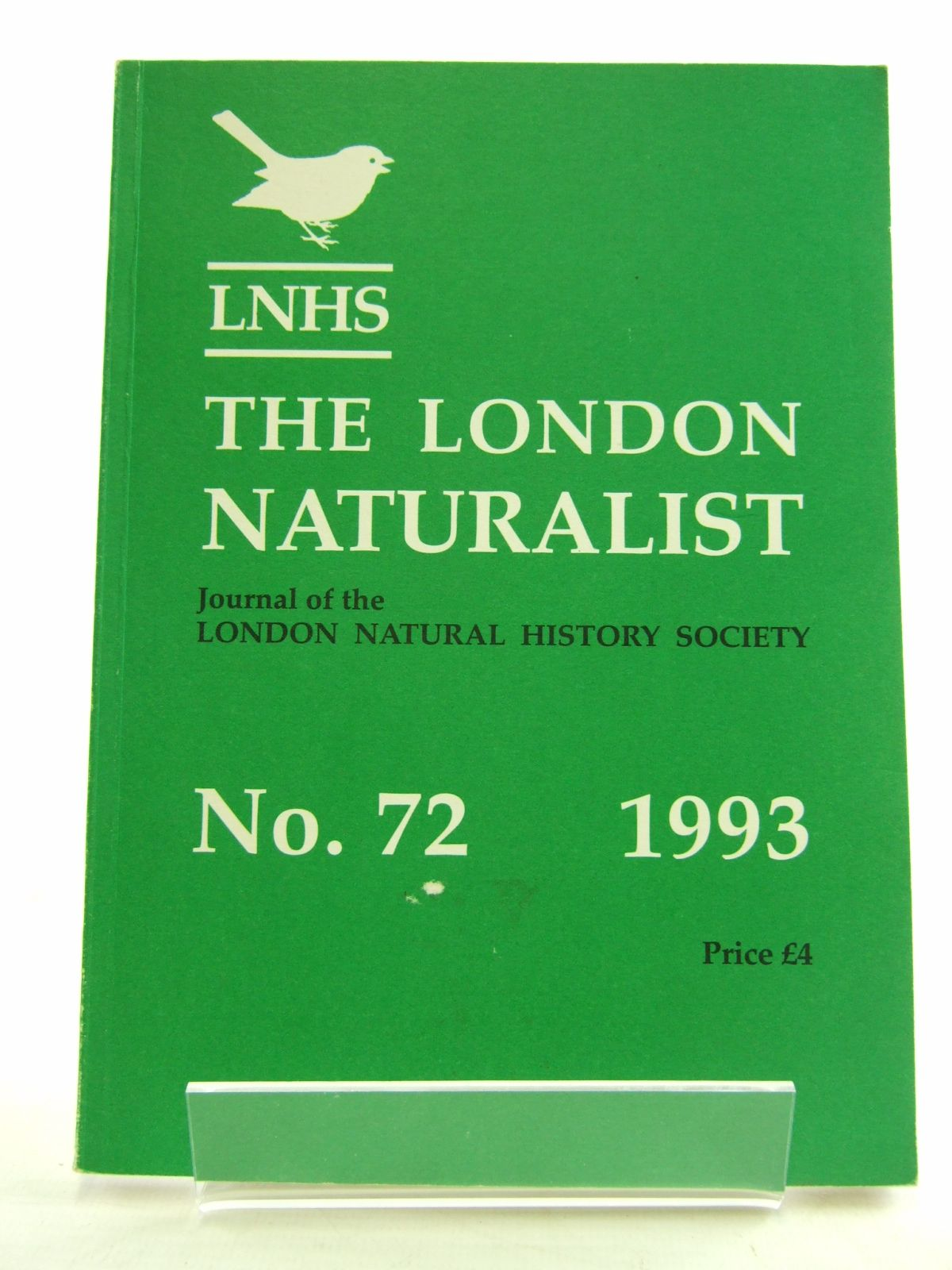 Photo of THE LONDON NATURALIST No. 72 FOR THE YEAR 1992- Stock Number: 1806062