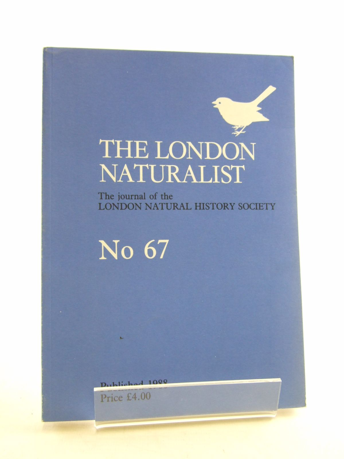 Photo of THE LONDON NATURALIST No. 67 FOR THE YEAR 1987- Stock Number: 1806074
