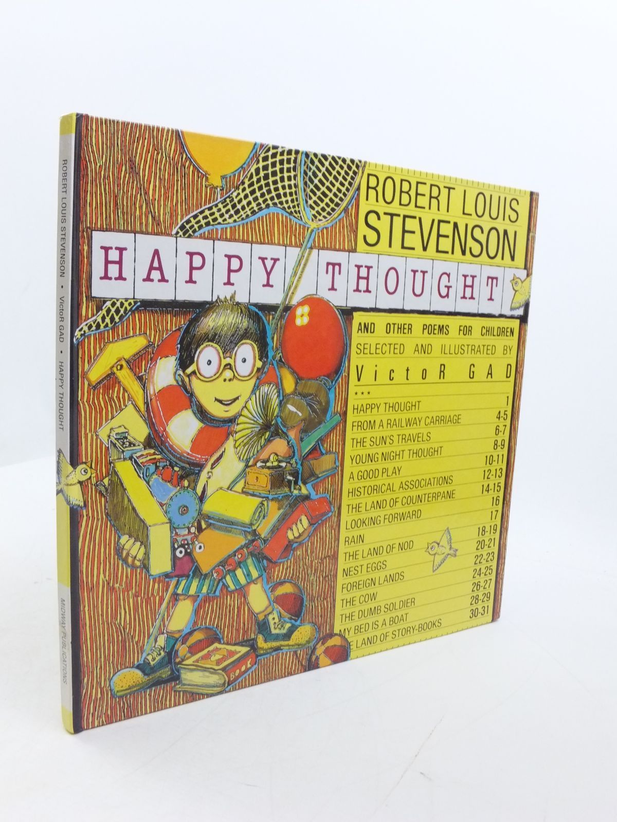 Photo of HAPPY THOUGHT AND OTHER POEMS FOR CHILDREN written by Stevenson, Robert Louis Gad, Victor illustrated by Gad, Victor published by Midway (STOCK CODE: 1807453)  for sale by Stella & Rose's Books