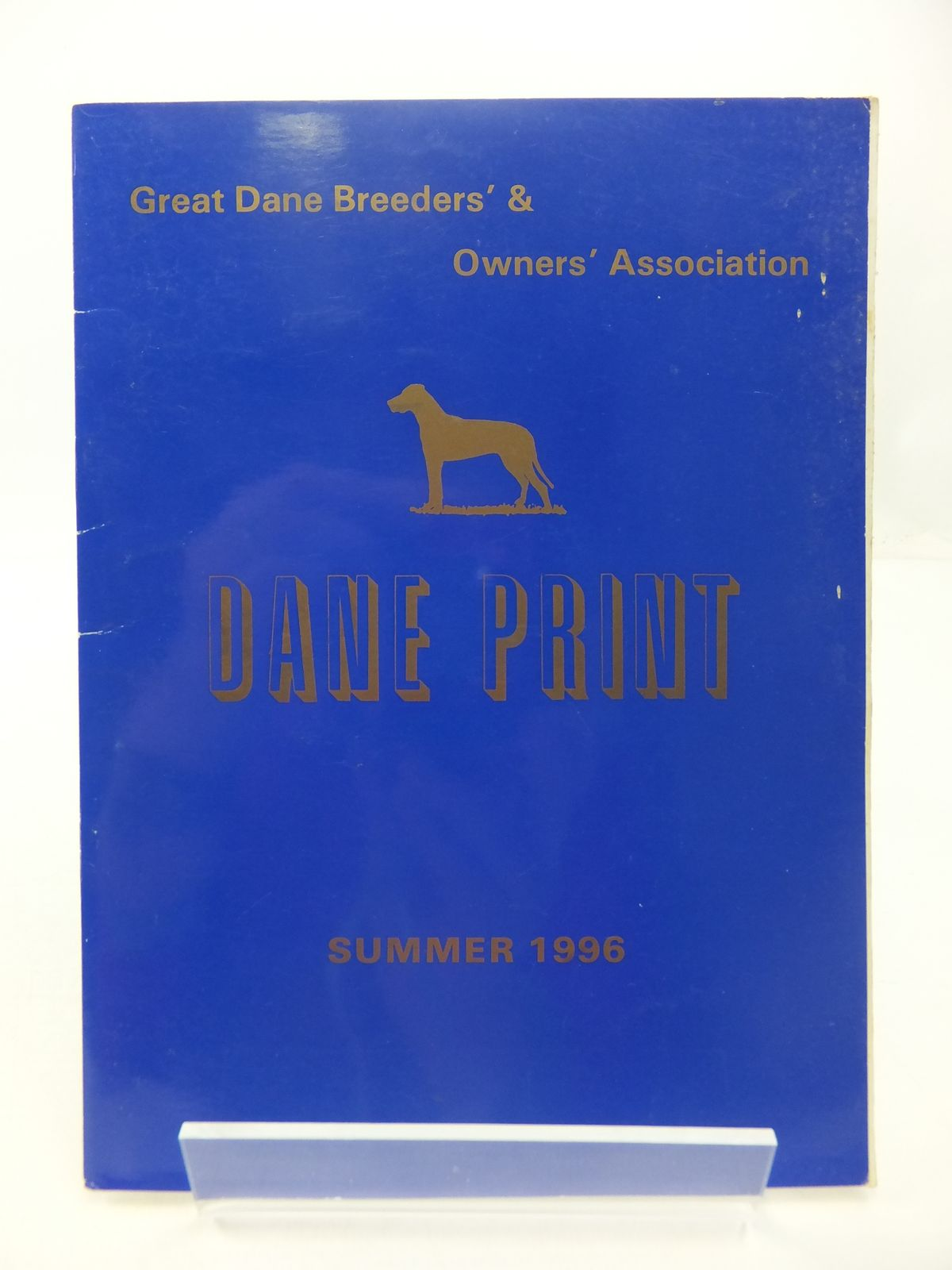 Photo of DANE PRINT: GREAT DANE BREEDERS' & OWNERS' ASSOCIATION SUMMER 1996- Stock Number: 1807649