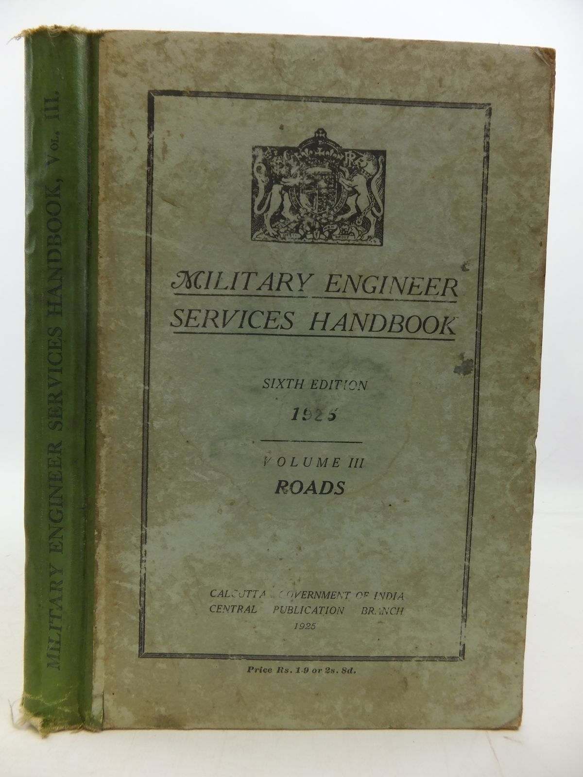 Photo of MILITARY ENGINEER SERVICES HANDBOOK VOLUME III ROADS published by Government Of India (STOCK CODE: 1808312)  for sale by Stella & Rose's Books