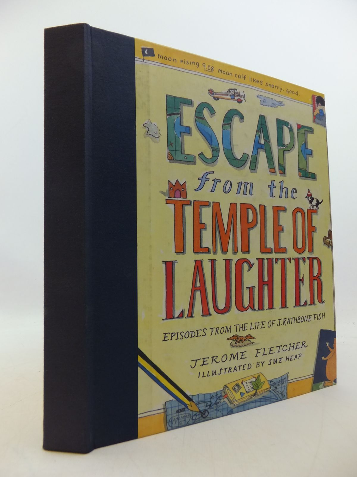 Photo of ESCAPE FROM THE TEMPLE OF LAUGHTER written by Fletcher, Jerome illustrated by Heap, Sue published by Andre Deutsch Children's Books (STOCK CODE: 1808442)  for sale by Stella & Rose's Books