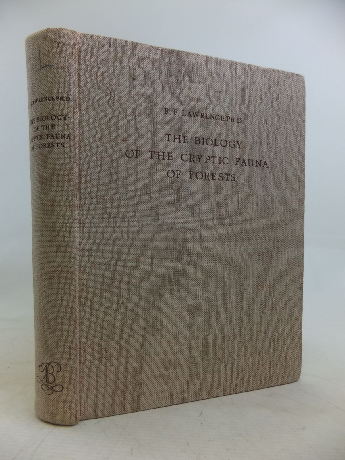 Photo of THE BIOLOGY OF THE CRYPTIC FAUNA OF FORESTS- Stock Number: 1809530
