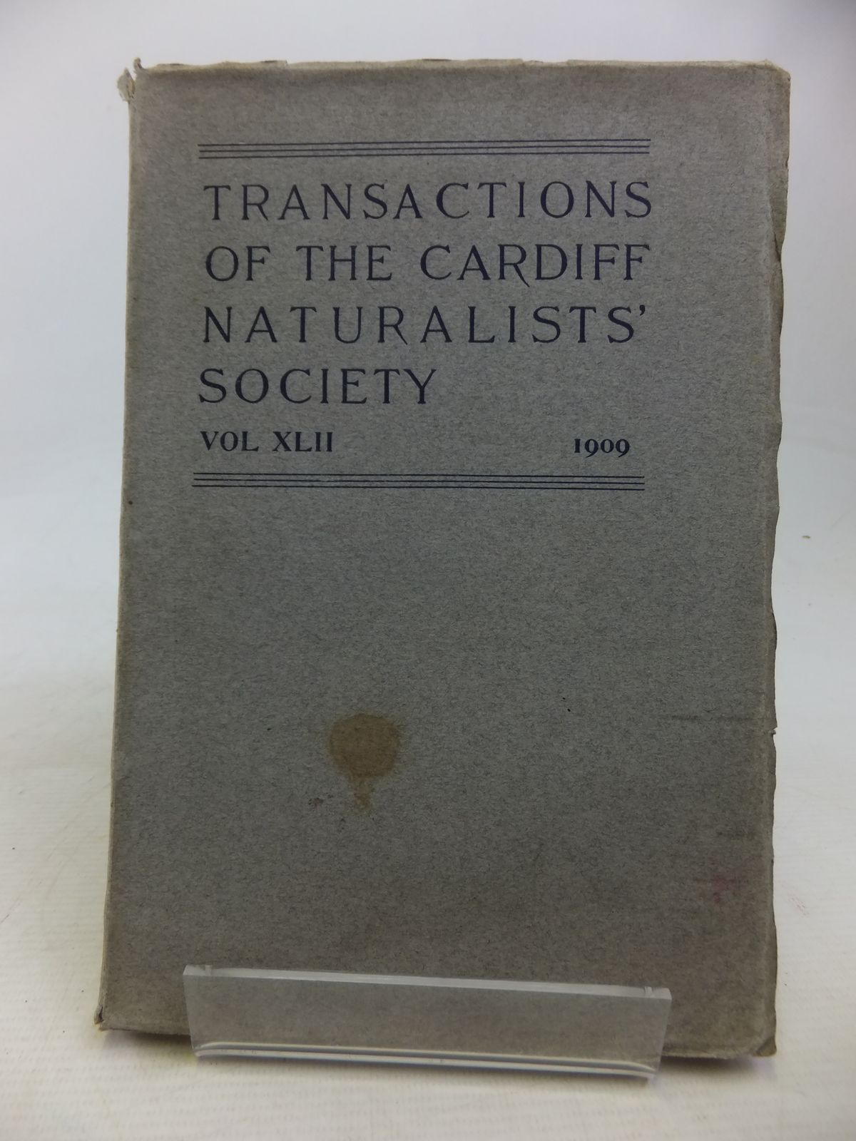 Photo of CARDIFF NATURALISTS' SOCIETY REPORT AND TRANSACTIONS VOL XLII 1909- Stock Number: 1809837