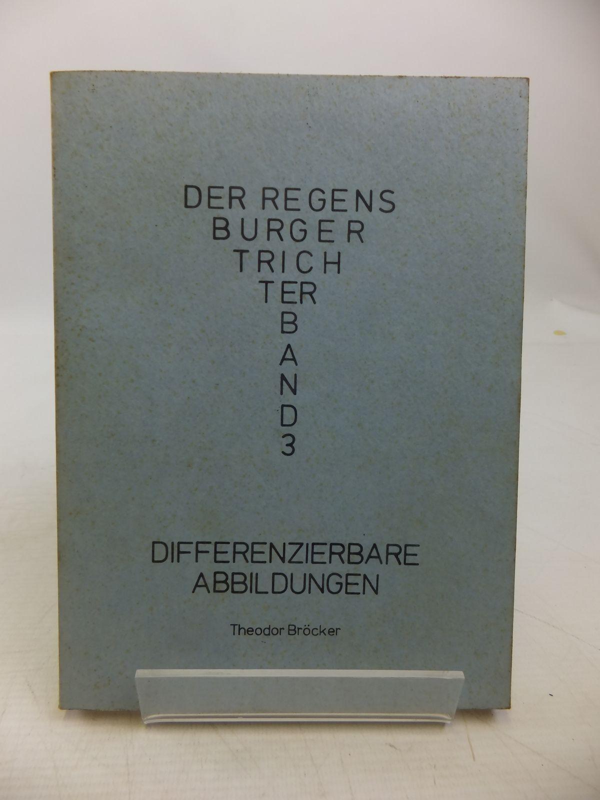 Photo of DIFFERENZIERBARE ABBILDUNGEN written by Brocker, Theodor published by Universitat Regensburg (STOCK CODE: 1811323)  for sale by Stella & Rose's Books