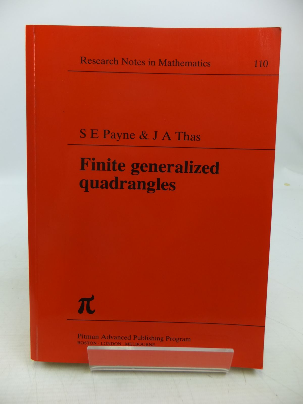 Photo of FINITE GENERALIZED QUADRANGLES written by Payne, S.E.