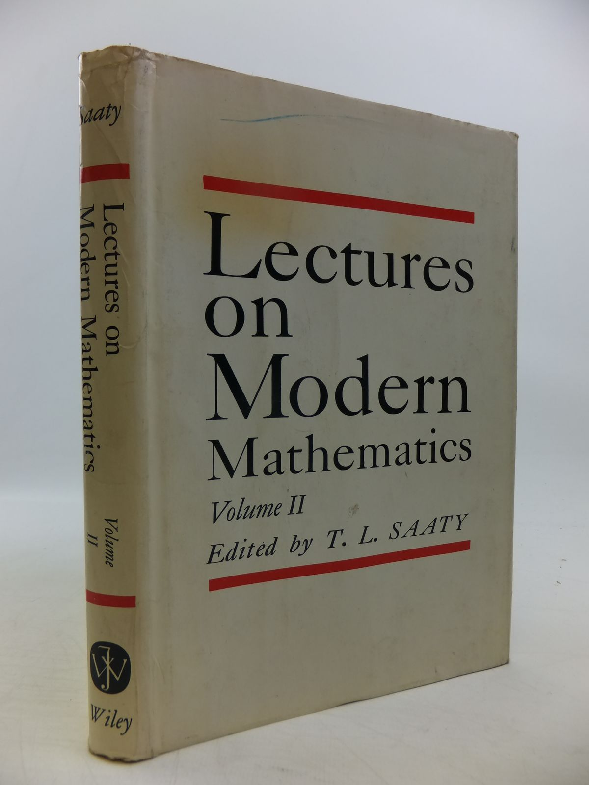 Photo of LECTURES ON MODERN MATHEMATICS VOLUME II written by Saaty, Thomas L. published by John Wiley & Sons (STOCK CODE: 1811403)  for sale by Stella & Rose's Books