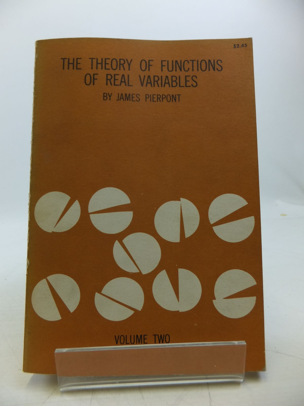 Photo of LECTURES ON THE THEORY OF FUNCTIONS OF REAL VARIABLES VOLUME II written by Pierpont, James published by Dover Publications Inc. (STOCK CODE: 1811418)  for sale by Stella & Rose's Books