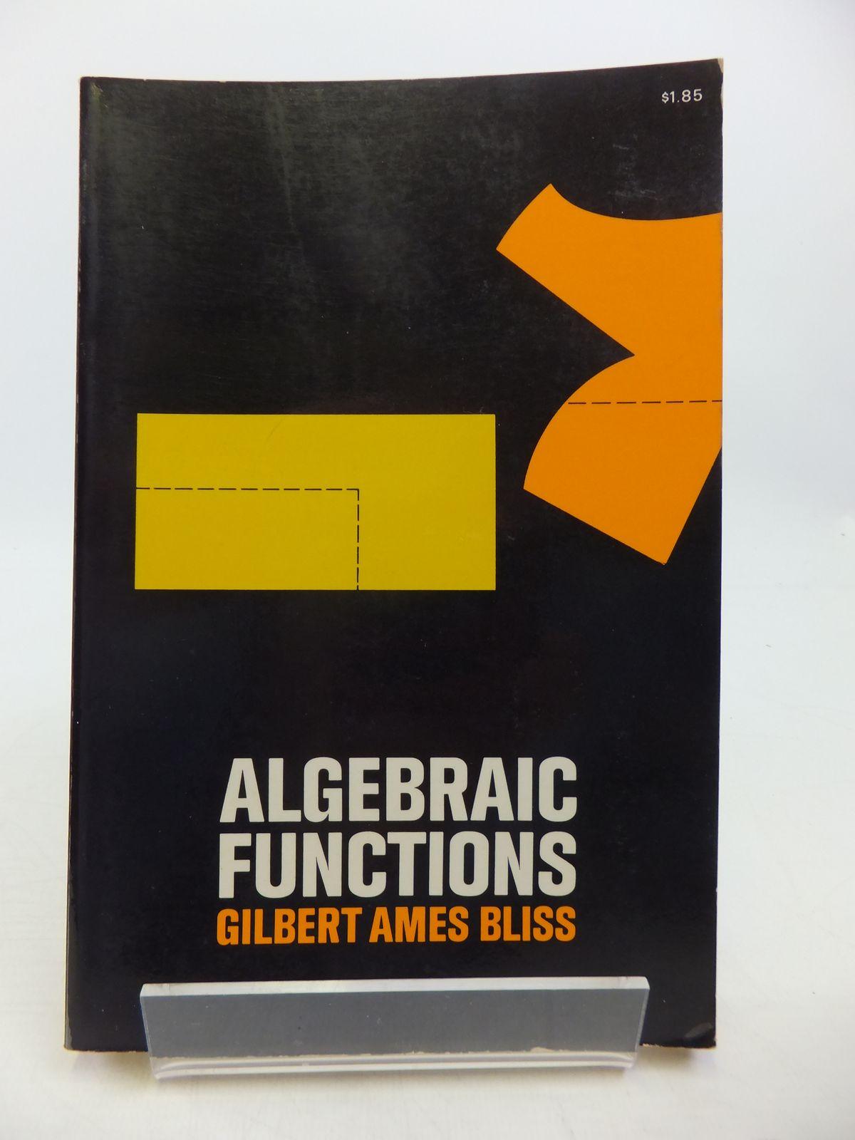 Photo of ALGEBRAIC FUNCTIONS- Stock Number: 1811429