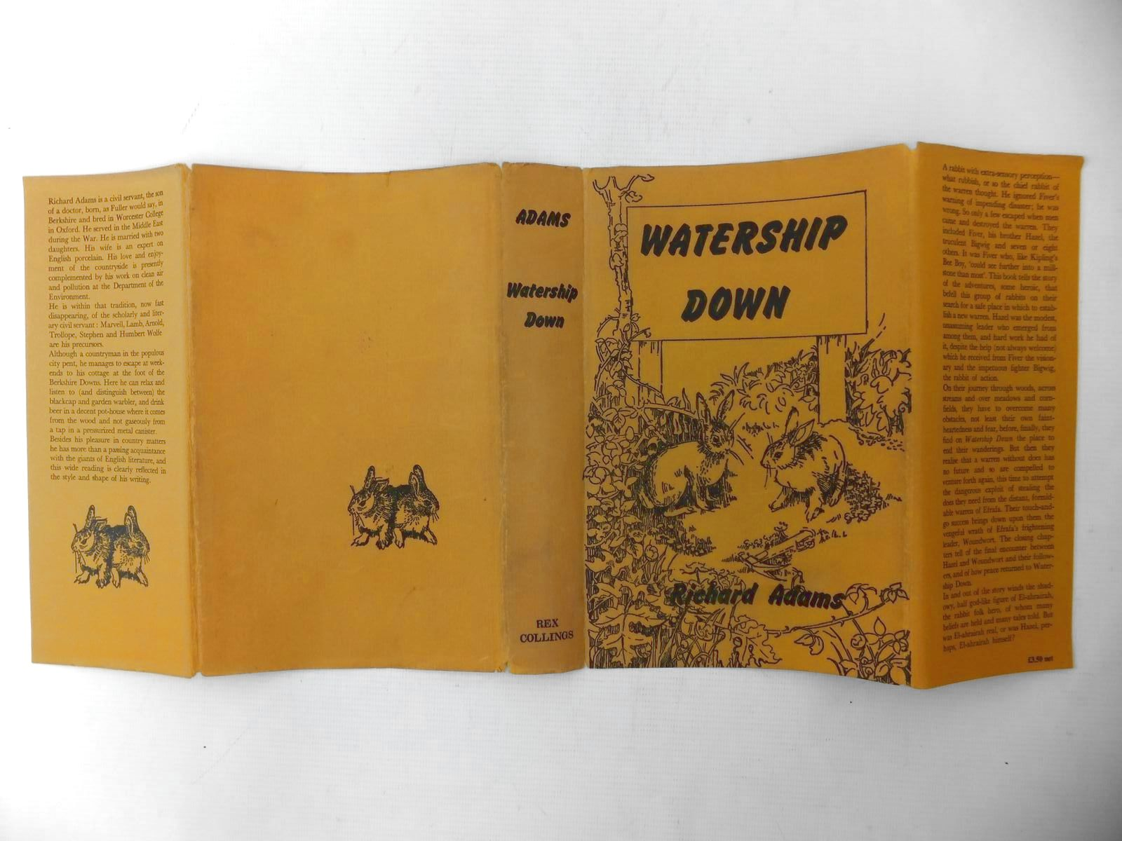 Photo of WATERSHIP DOWN written by Adams, Richard published by Rex Collings (STOCK CODE: 1811458)  for sale by Stella & Rose's Books
