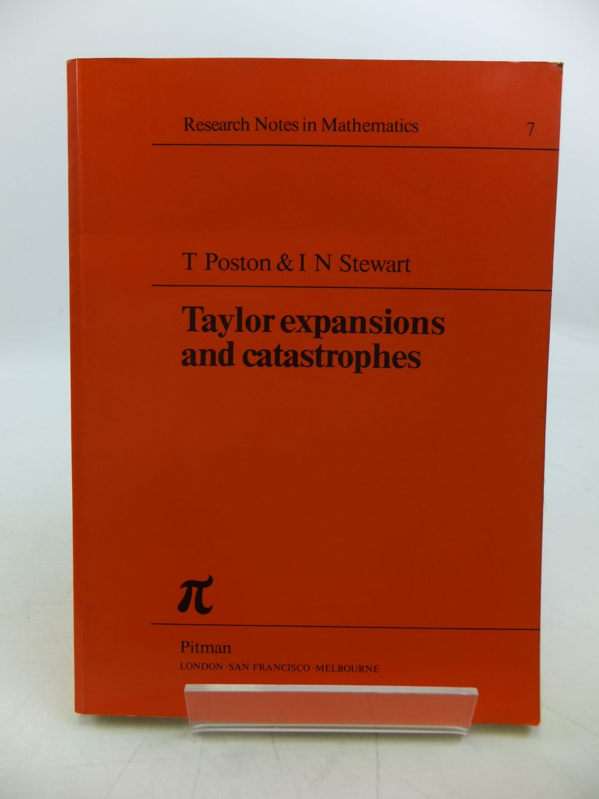 Photo of TAYLOR EXPANSIONS AND CATASTROPHES written by Poston, T.<br />Stewart, I.N. published by Pitman Publishing (STOCK CODE: 1811461)  for sale by Stella & Rose's Books