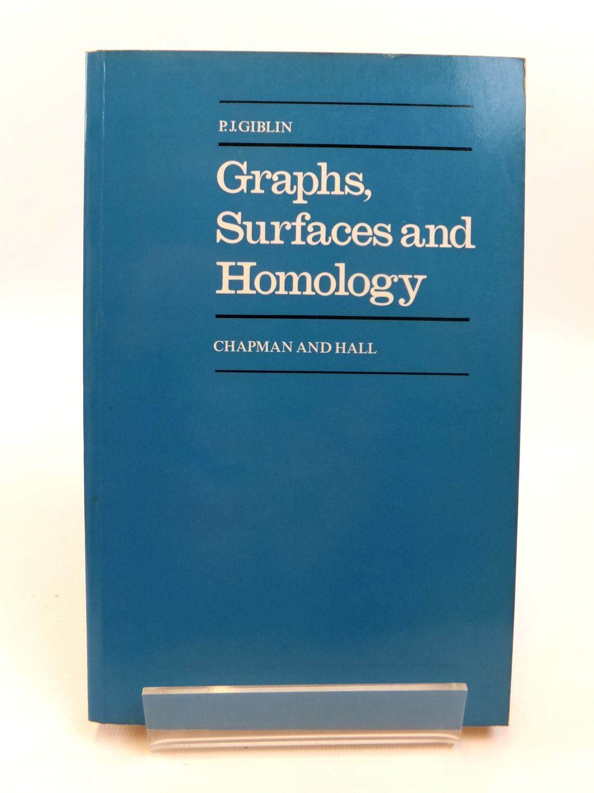 Photo of GRAPHS, SURFACES AND HOMOLOGY: AN INTRODUCTION TO ALGEBRAIC TOPOLOGY- Stock Number: 1812464