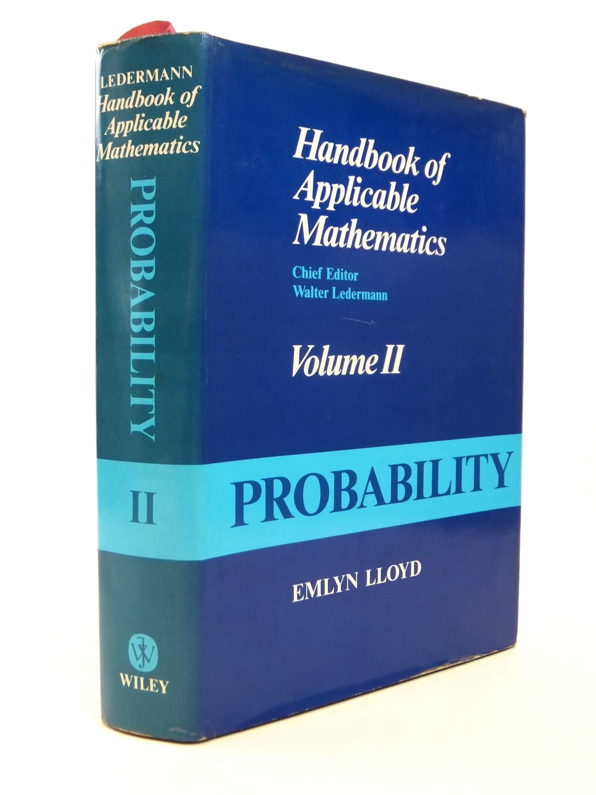 Photo of HANDBOOK OF APPLICABLE MATHEMATICS VOLUME II: PROBABILITY- Stock Number: 1812505