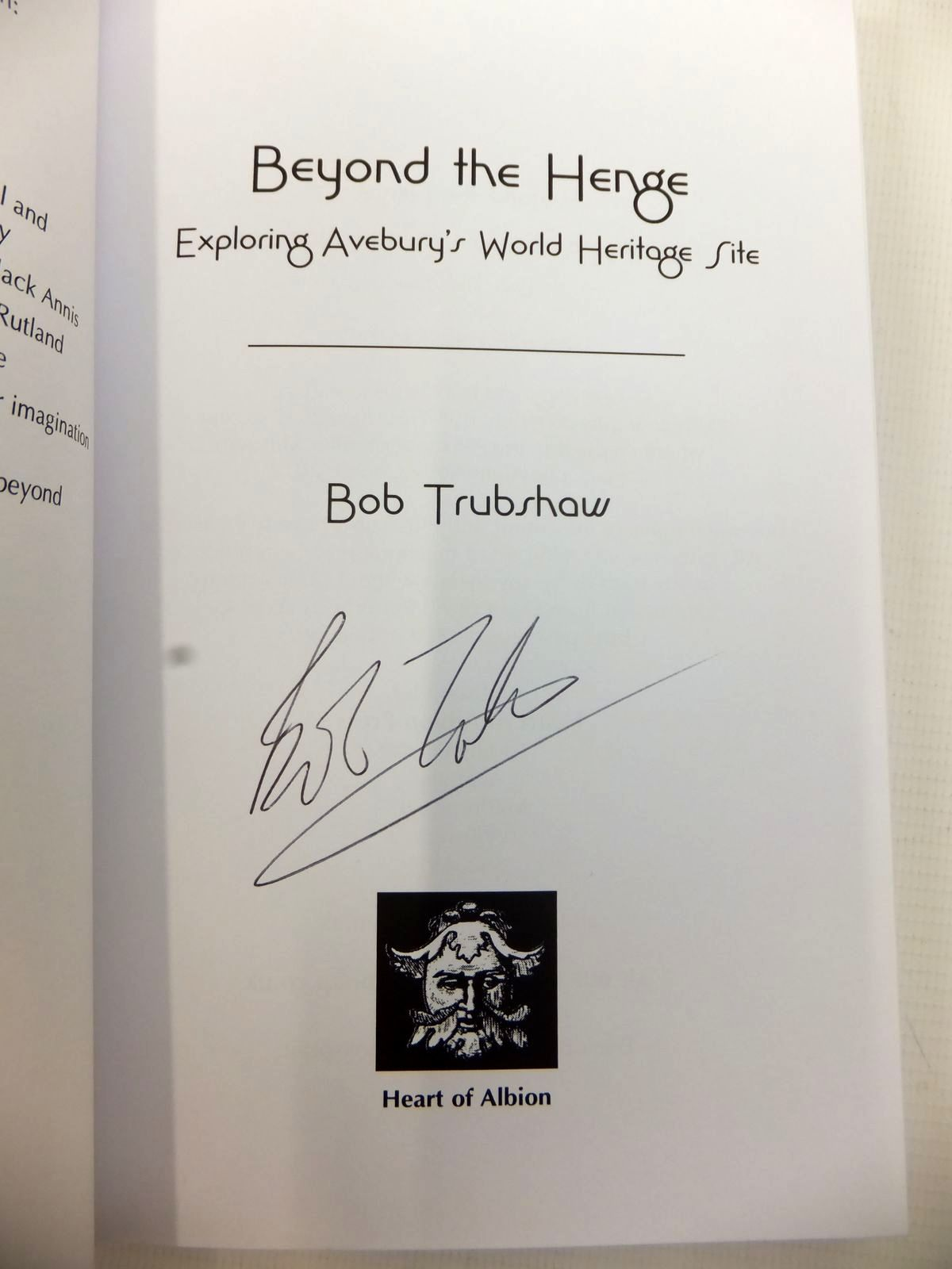 Photo of BEYOND THE HENGE: EXPLORING AVEBURY'S WORLD HERITAGE SITE written by Trubshaw, Bob published by Heart Of Albion (STOCK CODE: 1813298)  for sale by Stella & Rose's Books