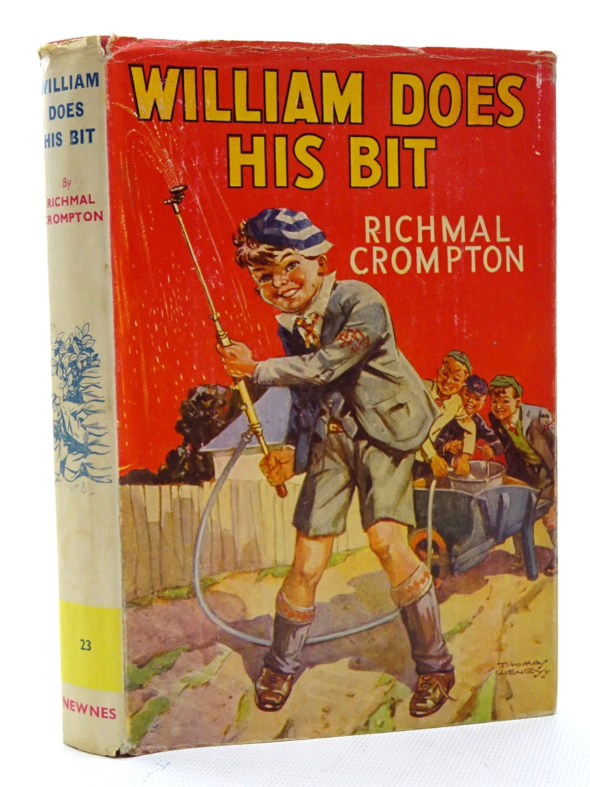 Photo of WILLIAM DOES HIS BIT written by Crompton, Richmal illustrated by Henry, Thomas published by George Newnes Limited (STOCK CODE: 1816129)  for sale by Stella & Rose's Books