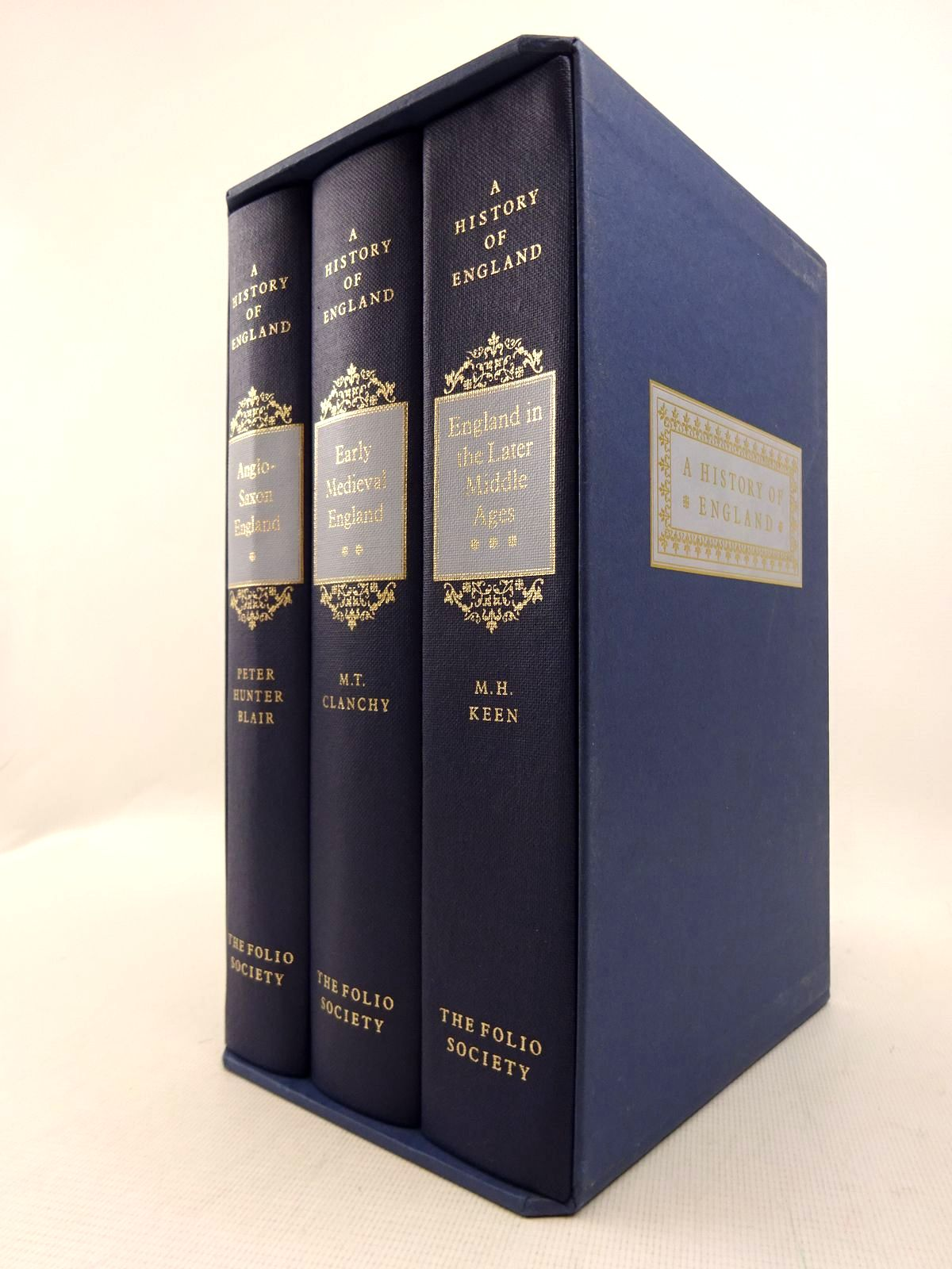 Photo of A HISTORY OF ENGLAND (3 VOLUMES) written by Keen, M.H.<br />Blair, Peter Hunter<br />Clanchy, M.T. published by Folio Society (STOCK CODE: 1816995)  for sale by Stella & Rose's Books