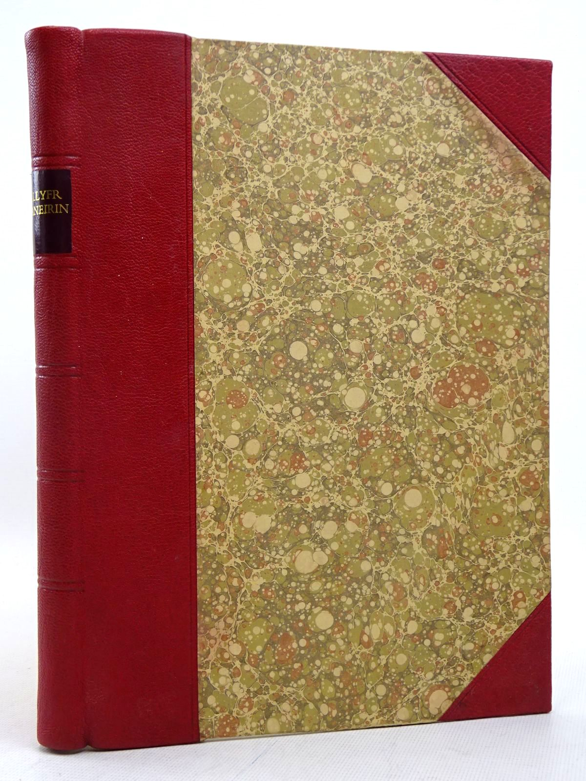 Photo of LLYFR ANEIRIN: A FACSIMILE written by Aneirin, Llyfr Evans, J. Gwenogvryn Huws, Daniel published by The National Library of Wales (STOCK CODE: 1817233)  for sale by Stella & Rose's Books