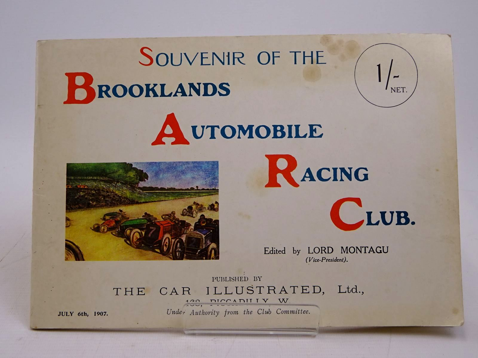 Photo of SOUVENIR OF THE BROOKLANDS AUTOMOBILE RACING CLUB- Stock Number: 1817973