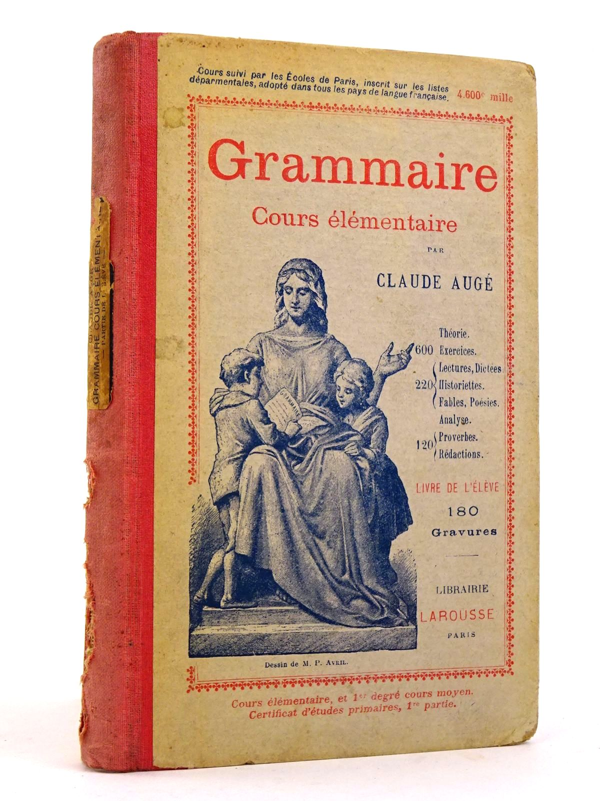 Photo of GRAMMAIRE COURS ELEMENTAIRE written by Auge, Claude published by Libraire Larousse (STOCK CODE: 1818396)  for sale by Stella & Rose's Books