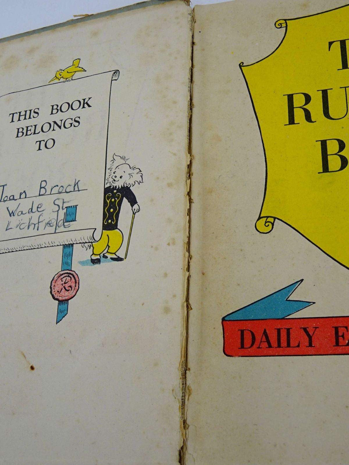 Photo of RUPERT ANNUAL 1941 - THE RUPERT BOOK written by Bestall, Alfred illustrated by Bestall, Alfred published by Daily Express (STOCK CODE: 1818419)  for sale by Stella & Rose's Books