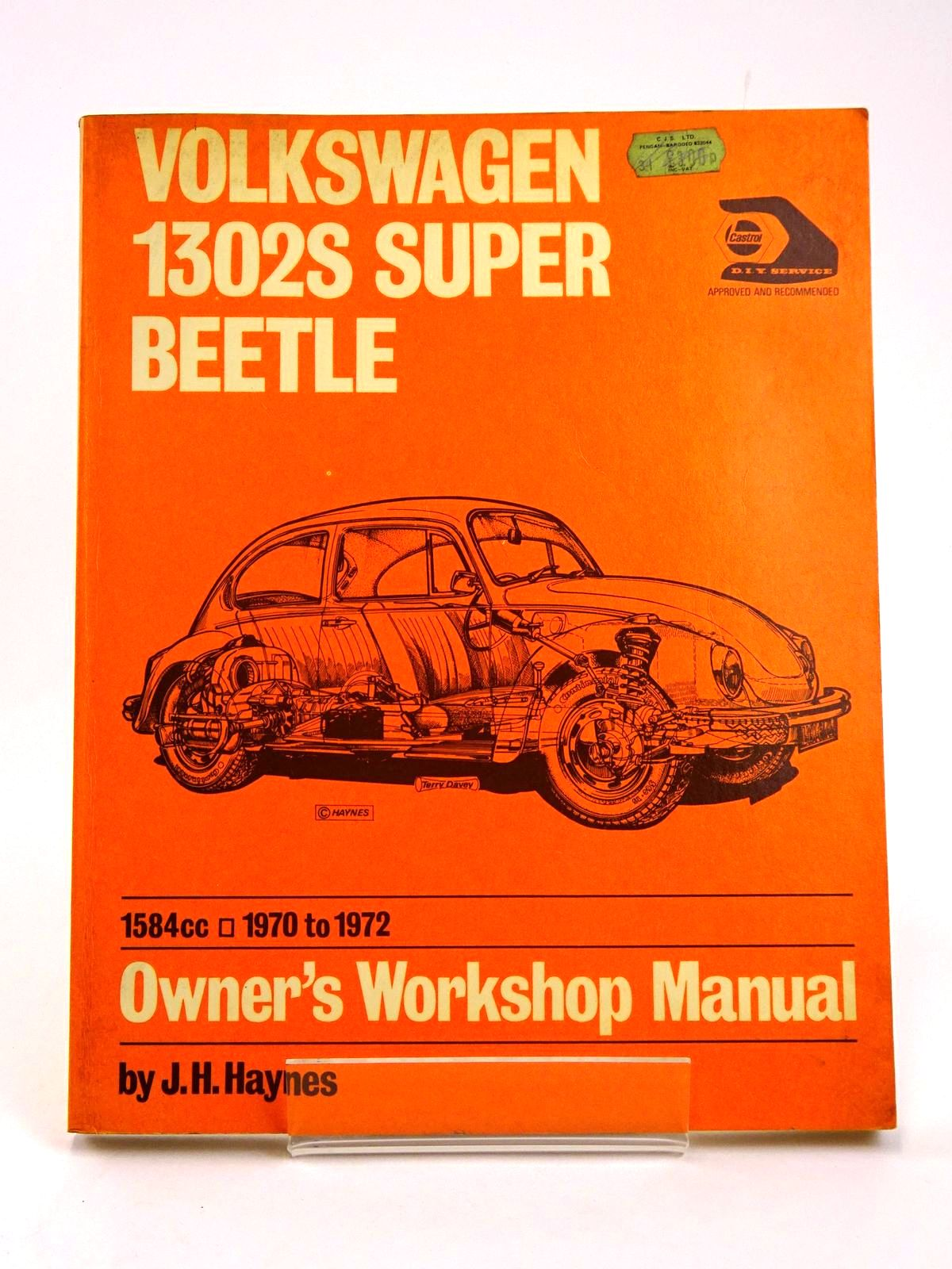 Photo of VOLKSWAGEN 1302S SUPER BEETLE OWNER'S WORKSHOP MANUAL written by Haynes, J.H. Stead, D.H. published by J.H. Haynes & Co. Ltd. (STOCK CODE: 1818545)  for sale by Stella & Rose's Books