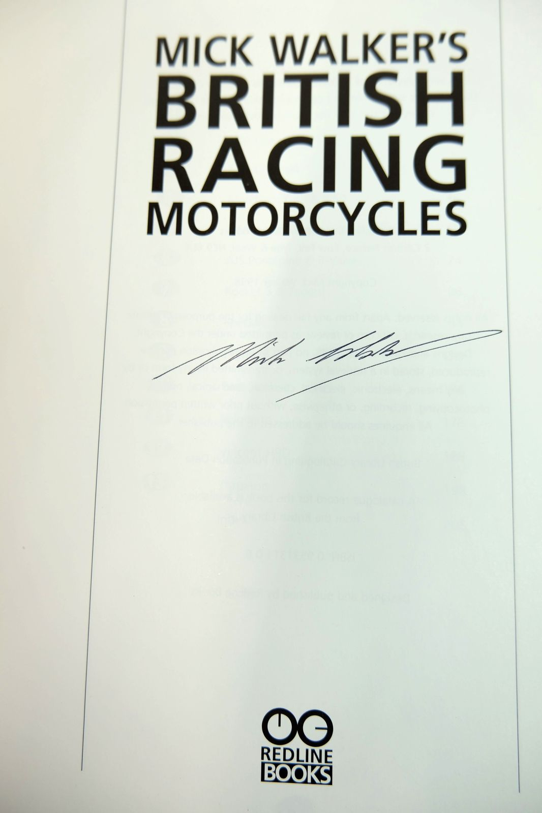 Photo of MICK WALKER'S BRITISH RACING MOTORCYCLES written by Walker, Mick published by Redline Books (STOCK CODE: 1818711)  for sale by Stella & Rose's Books