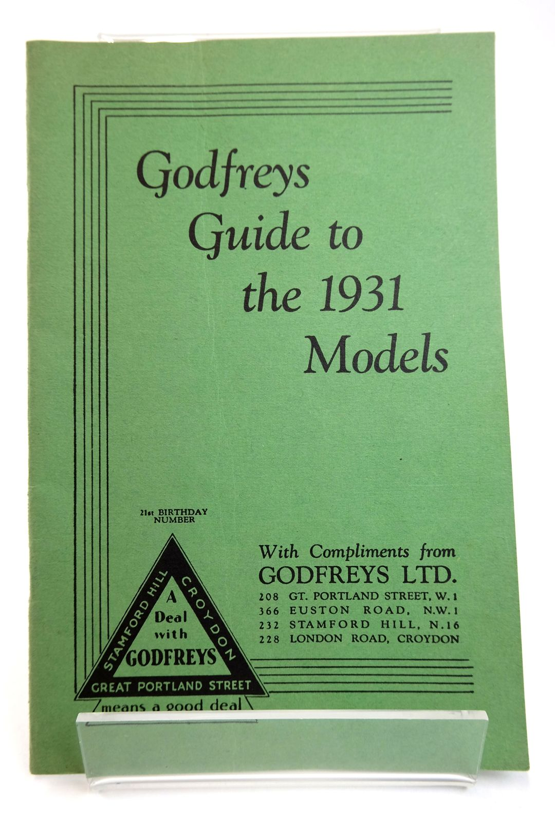 Photo of GODFREYS GUIDE TO THE 1931 MODELS- Stock Number: 1818720