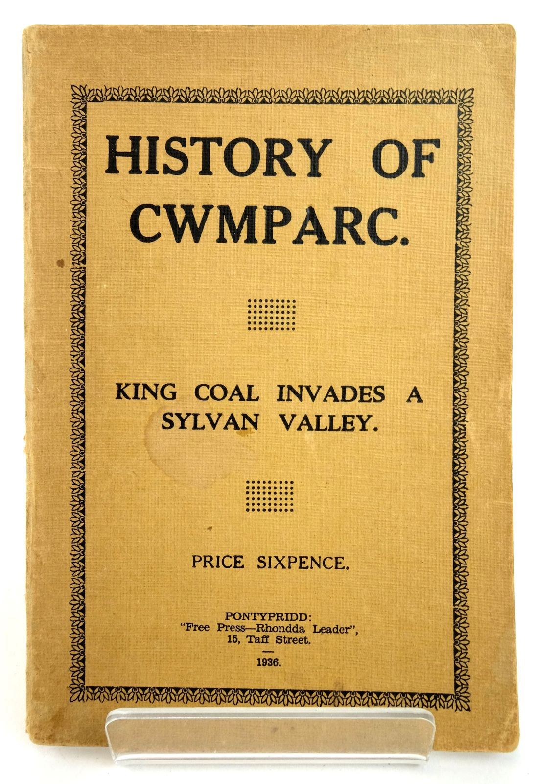 Photo of HISTORY OF CWMPARC- Stock Number: 1819070